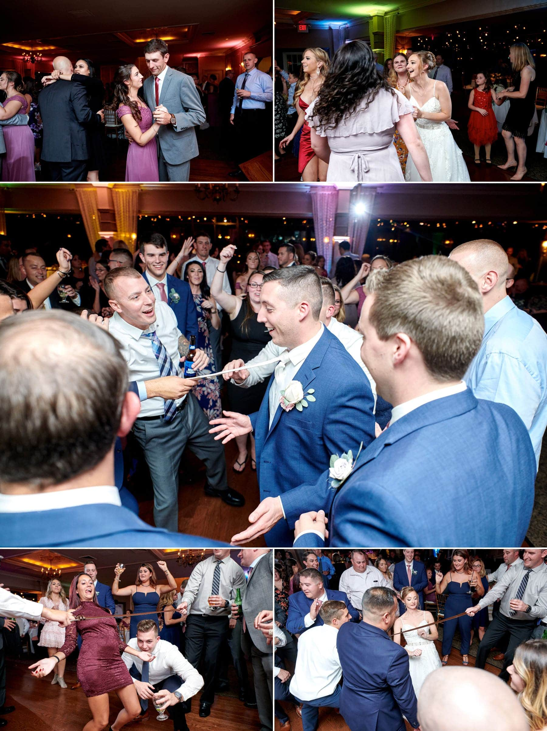 ramsey country club wedding dance floor photos