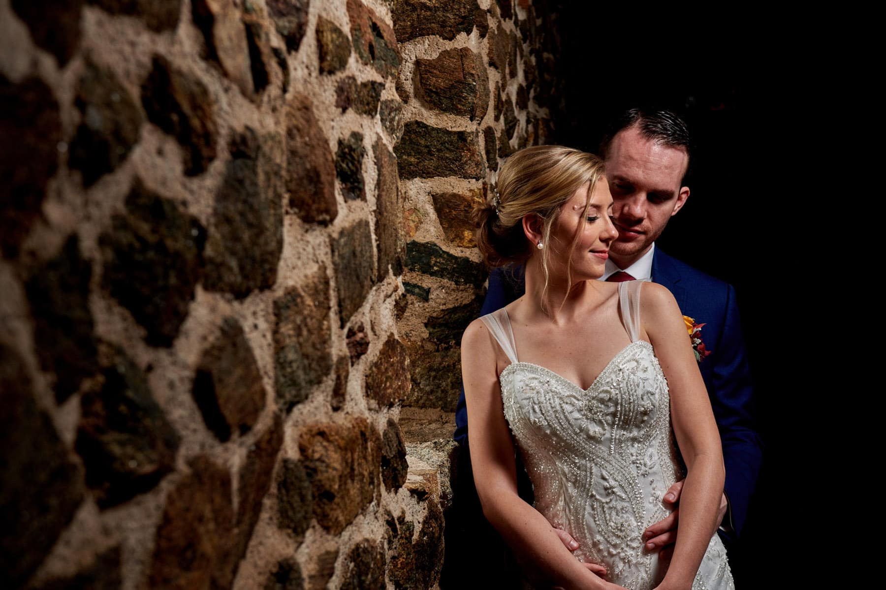 French Creek Golf Club wedding photo in the barn