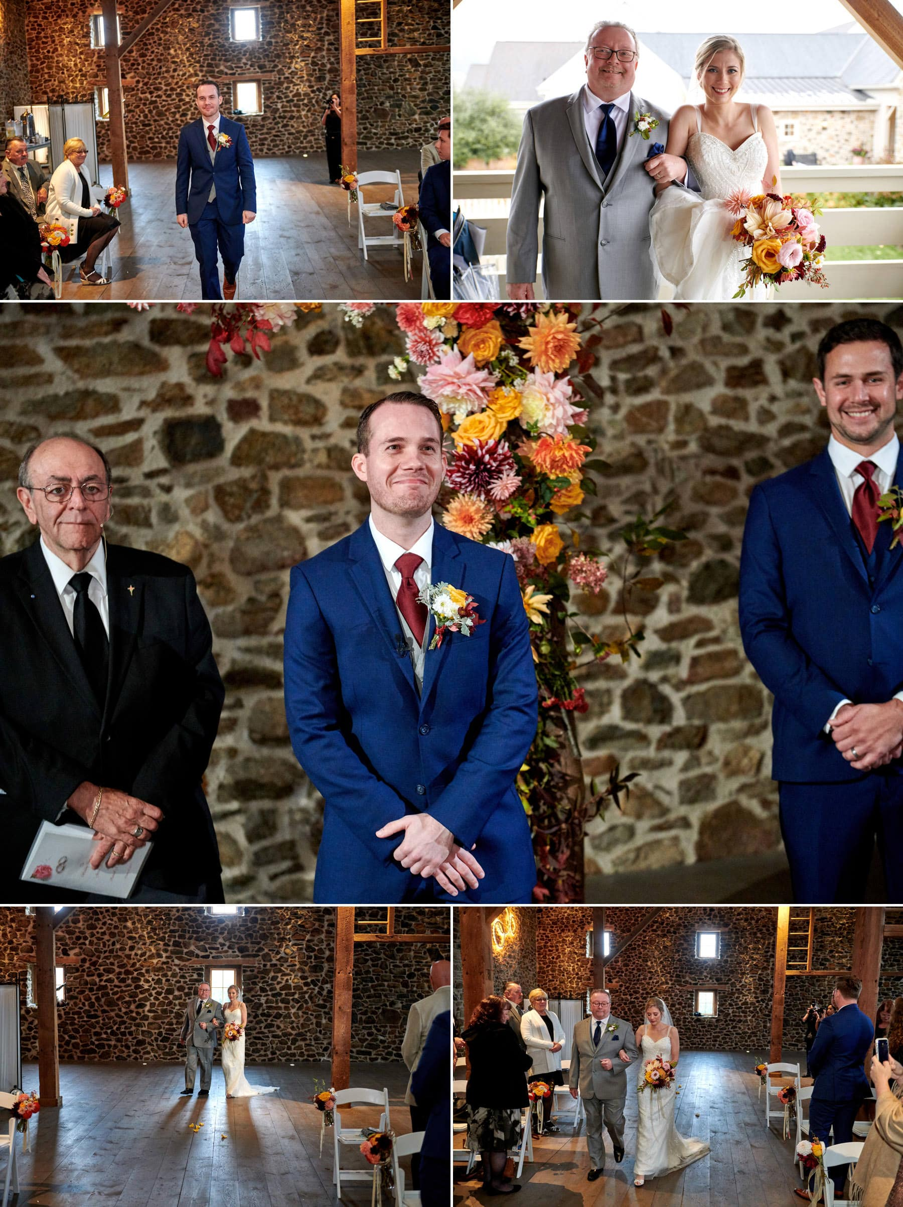 French Creek Golf Club indoor wedding ceremony photos