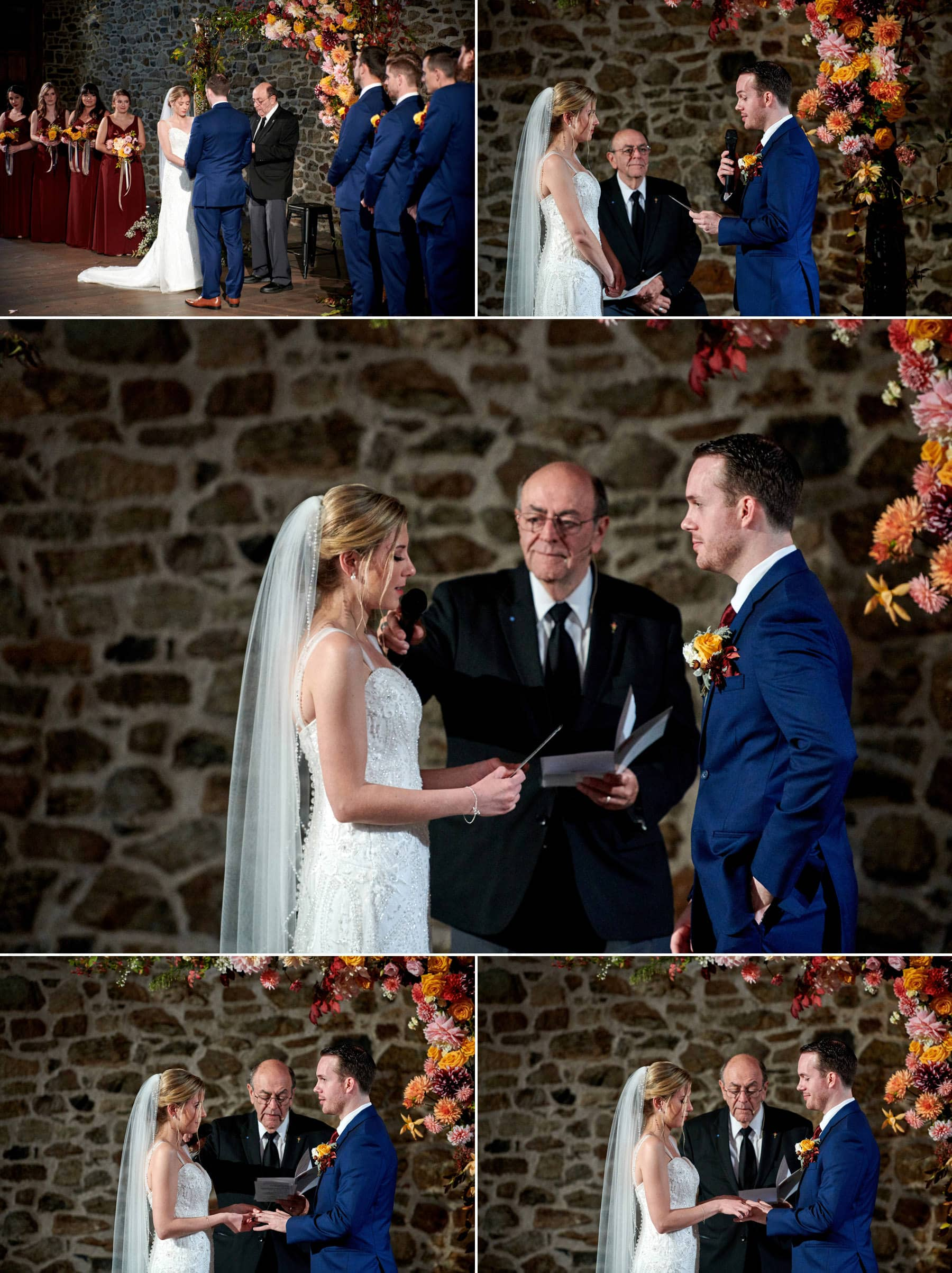 French Creek Golf Club indoor ceremony photos