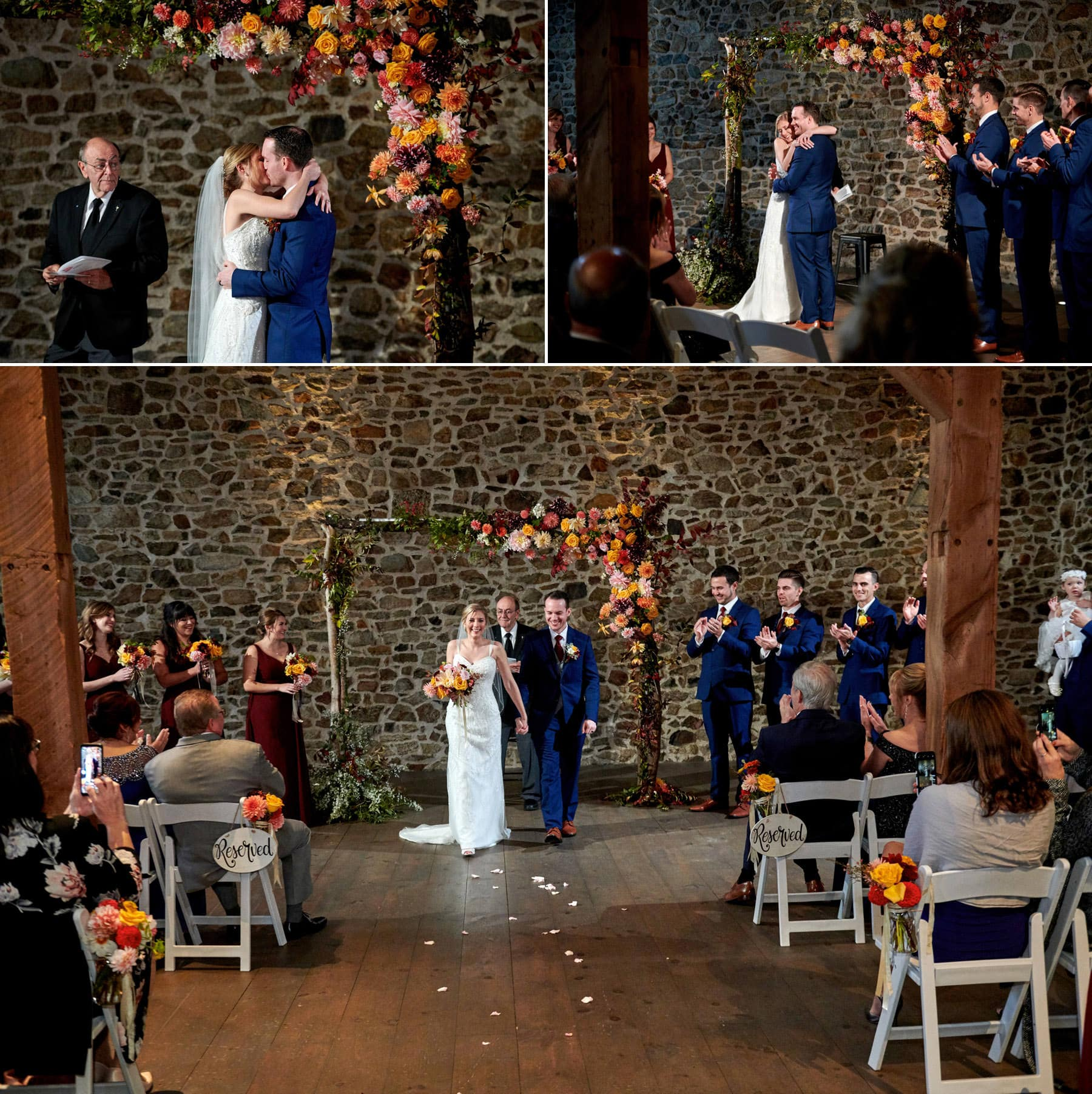 French Creek Golf Club barn ceremony photos
