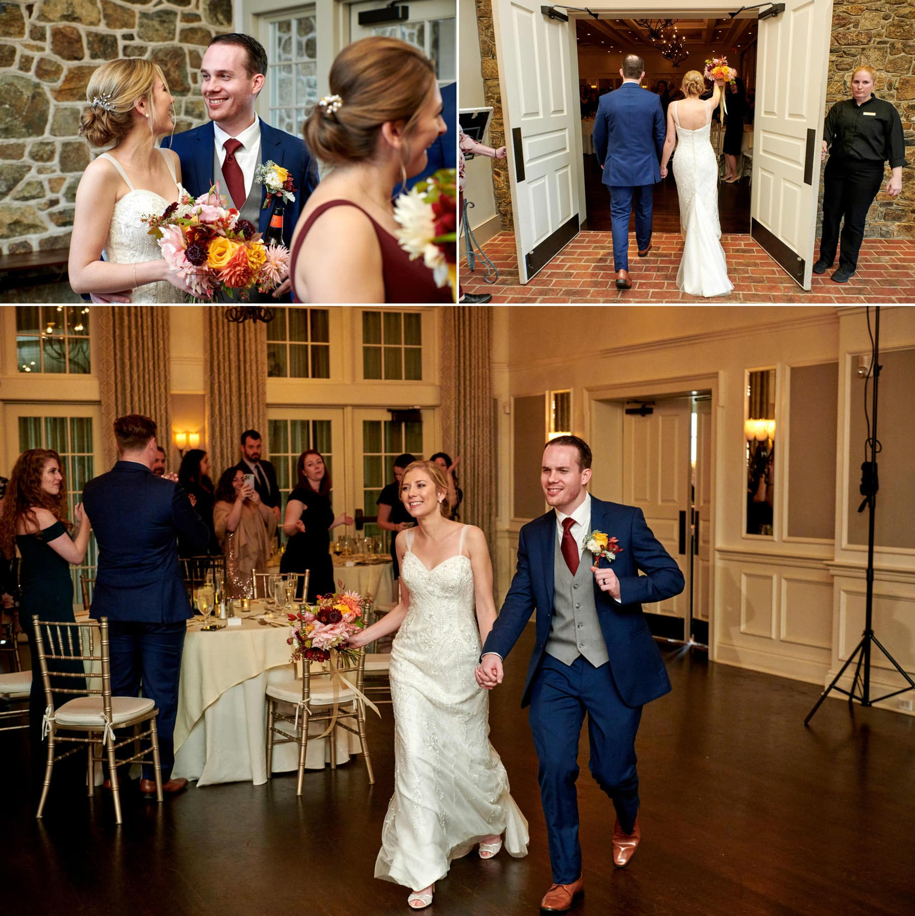 French Creek Golf Club wedding entrance photos