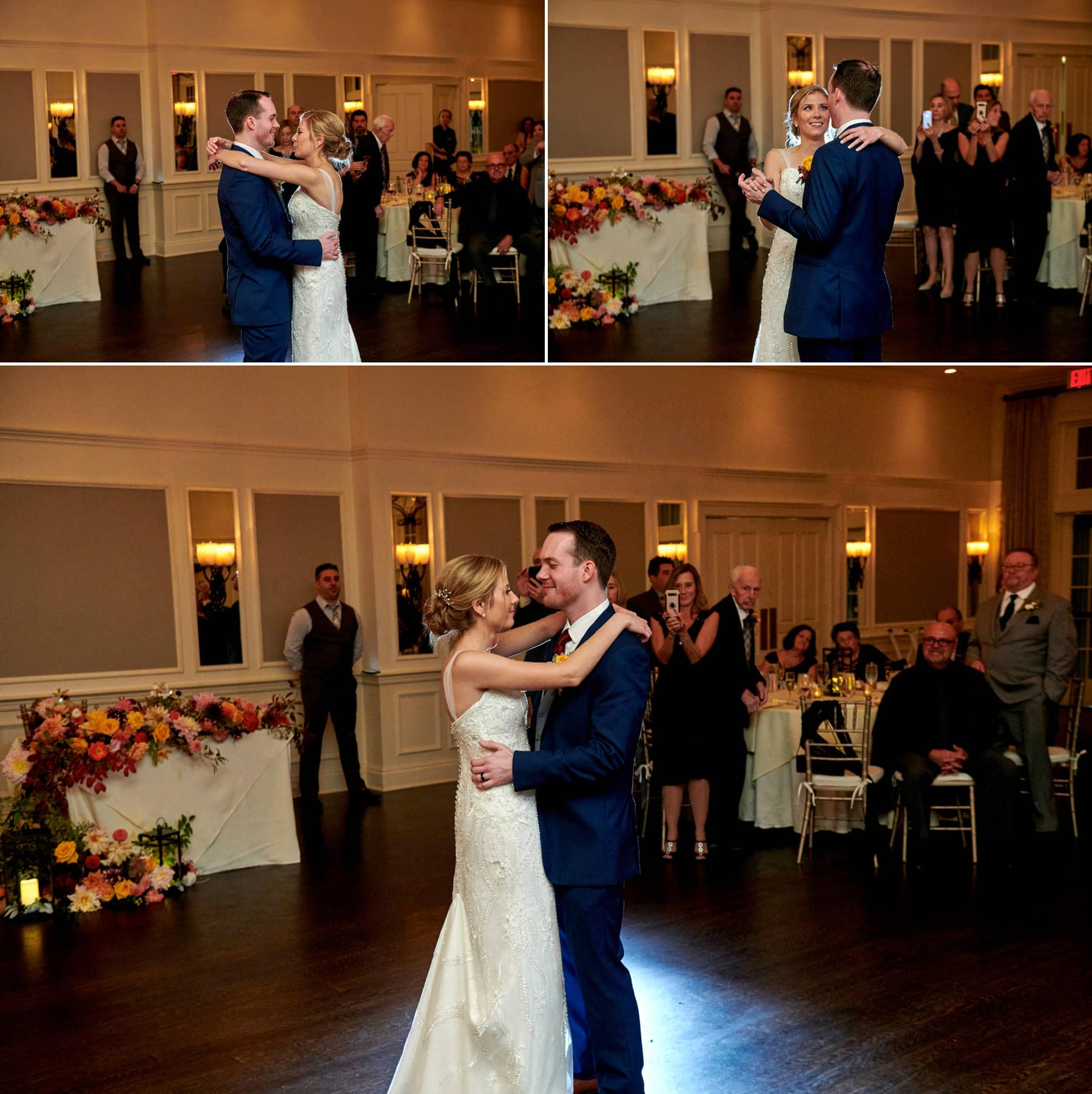 wedding first dance photos at French Creek Golf Club
