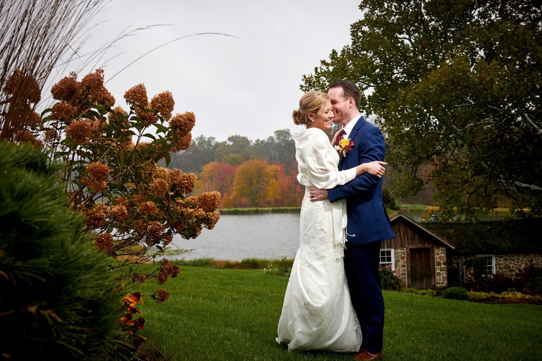 fall wedding photo at French Creek Golf Club