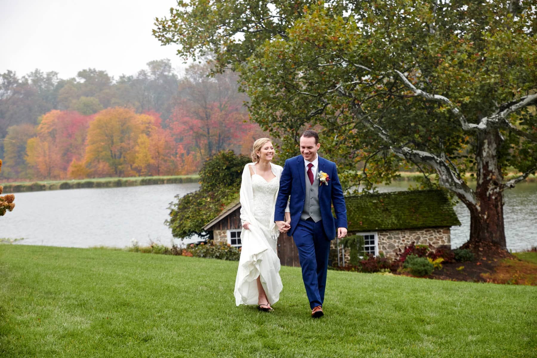 French Creek Golf Club wedding photo on a fall day