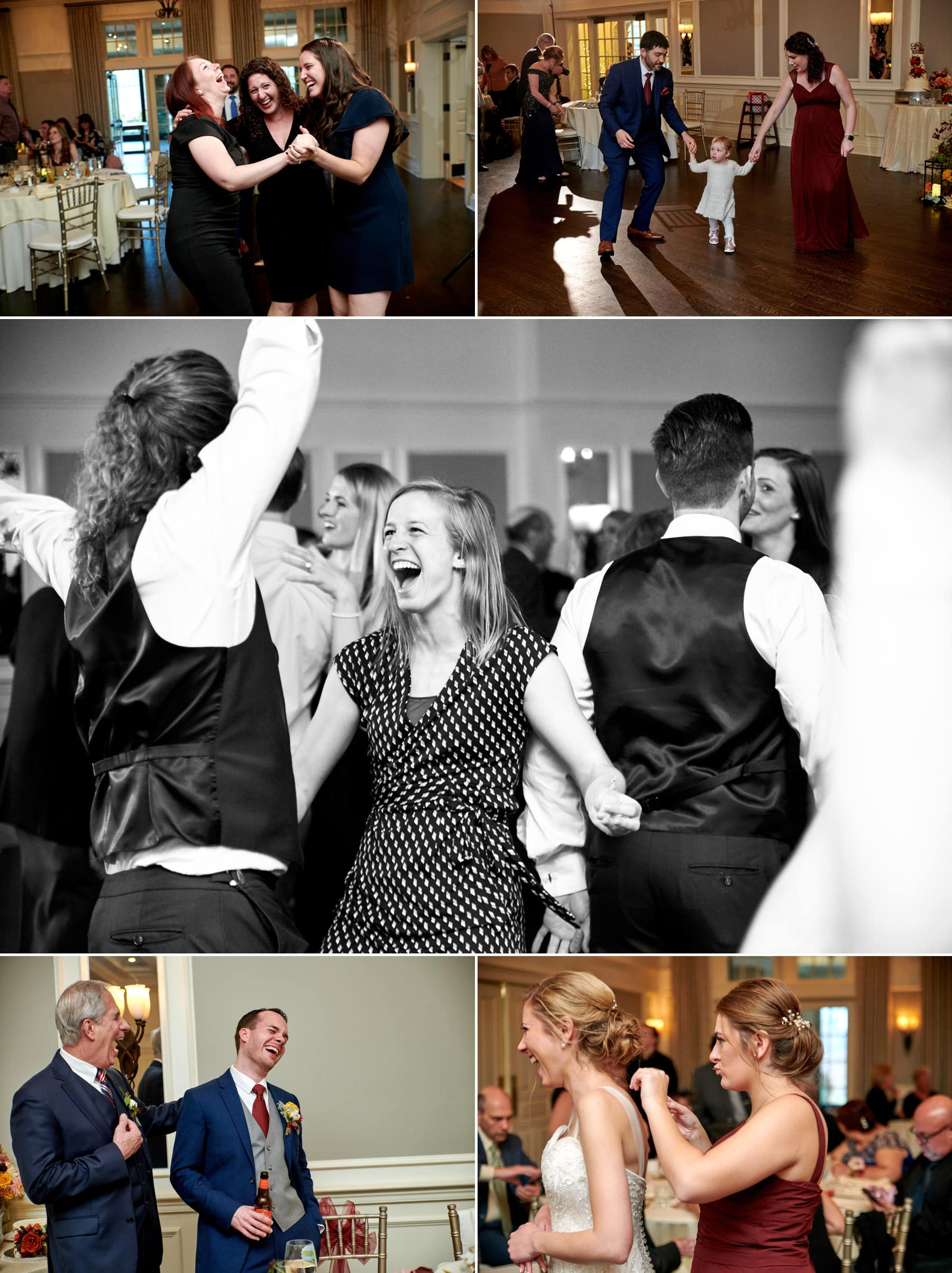 French Creek Golf Club wedding reception photos