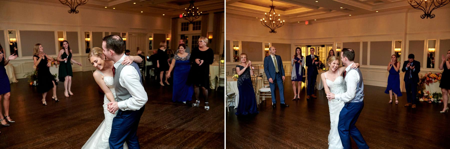 last wedding dance photos at French Creek Golf Club