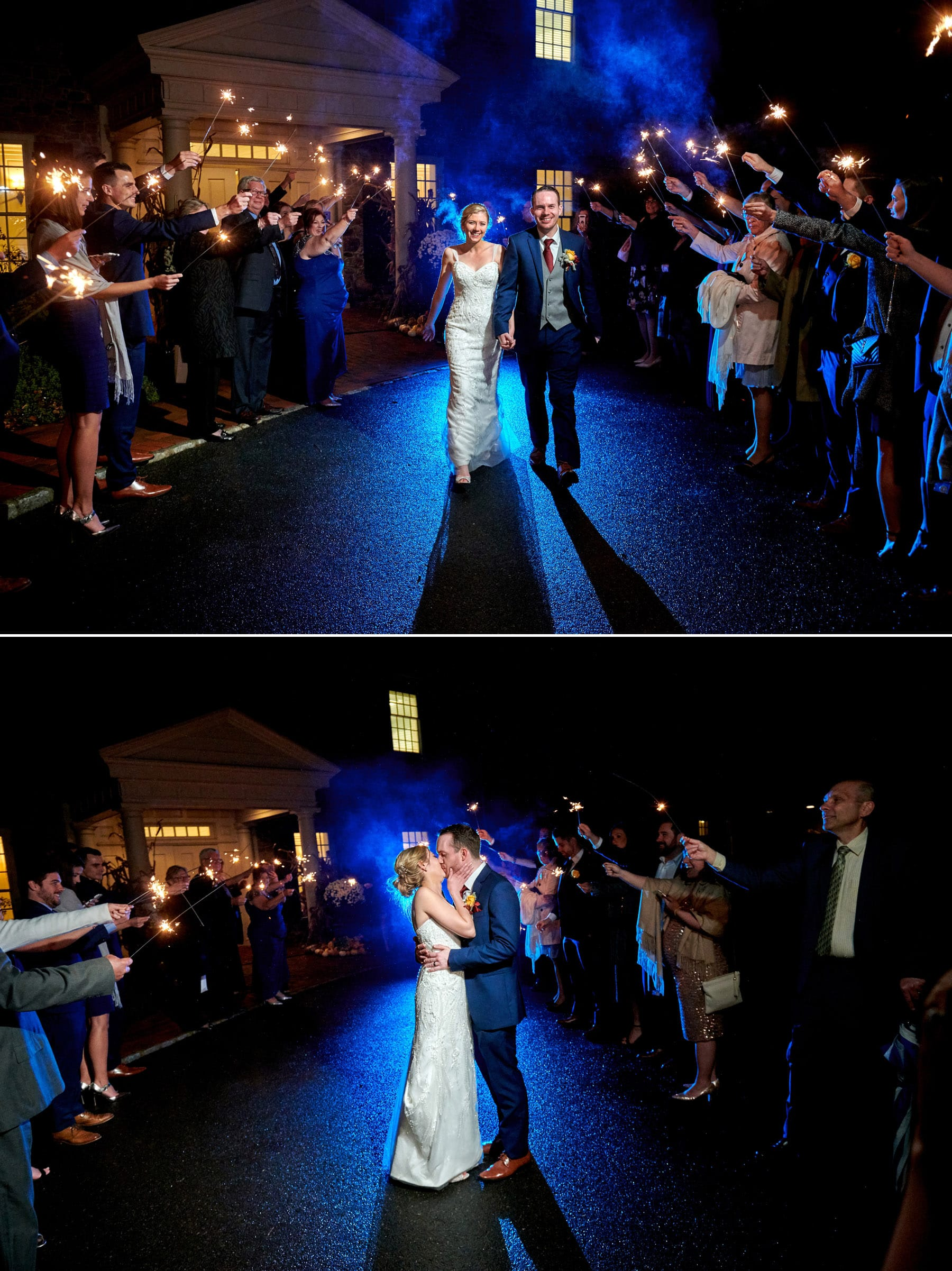 French Creek Golf Club wedding sparkler photos