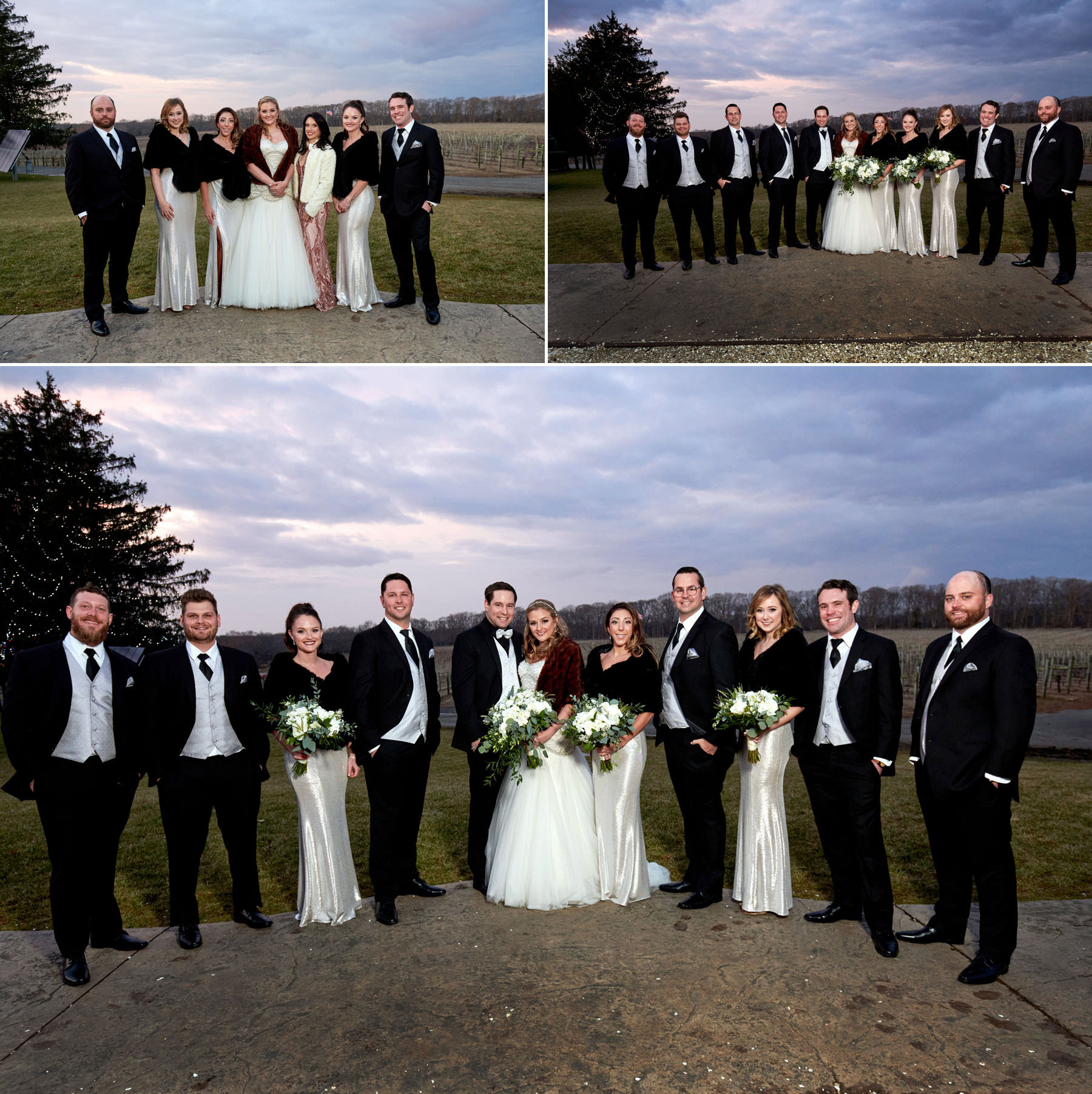 Laurita Winery bridal party wedding photos