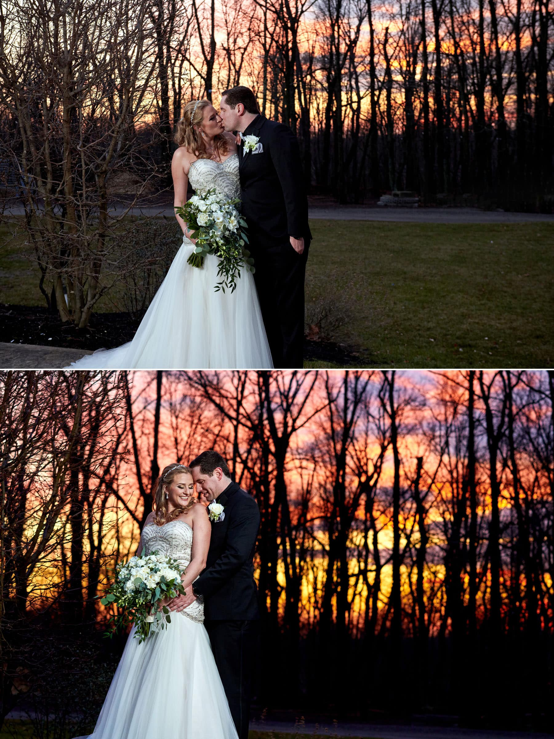 laurita winery sunset wedding photos