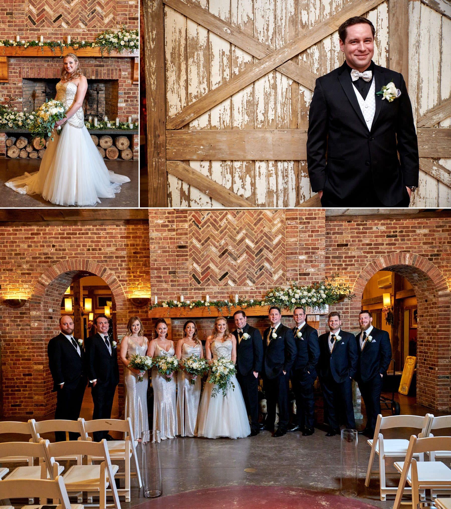 bridal party photos indoors at laurita winery