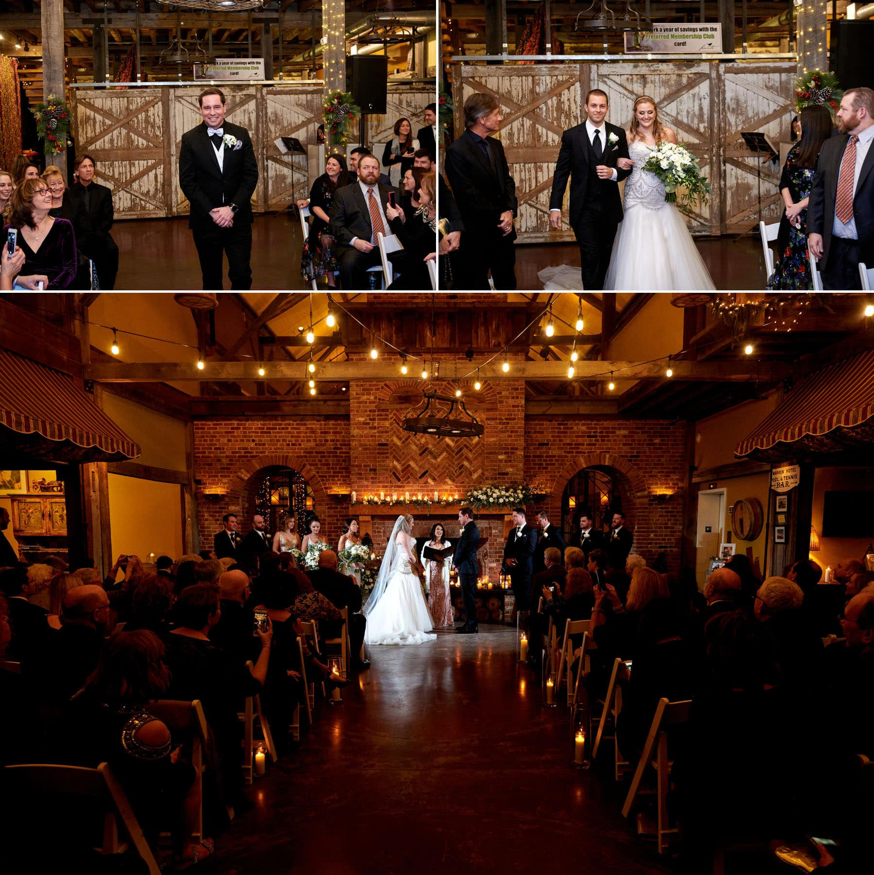 laurita winery indoor wedding ceremony