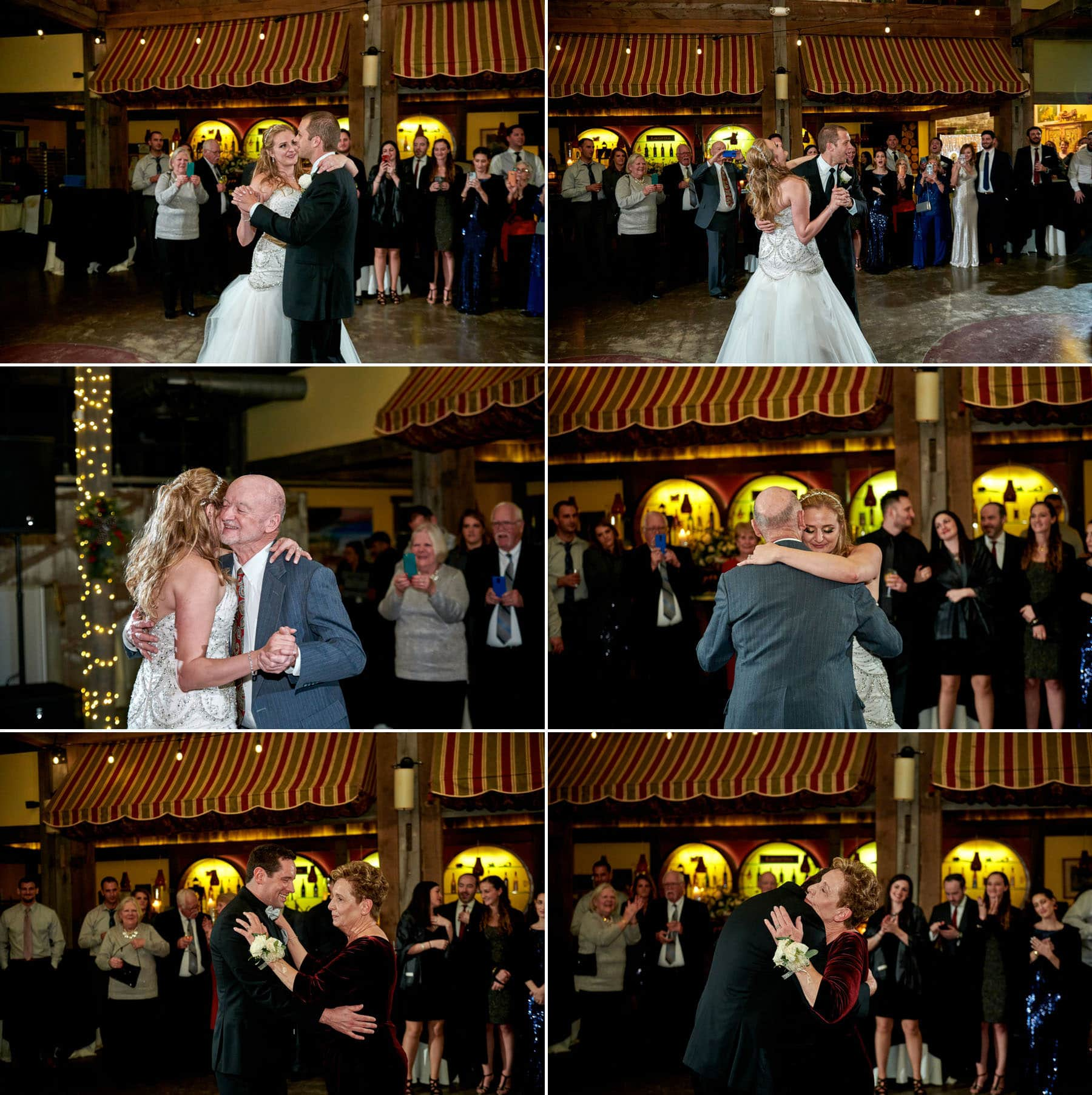 parent dance wedding photos at laurita winery