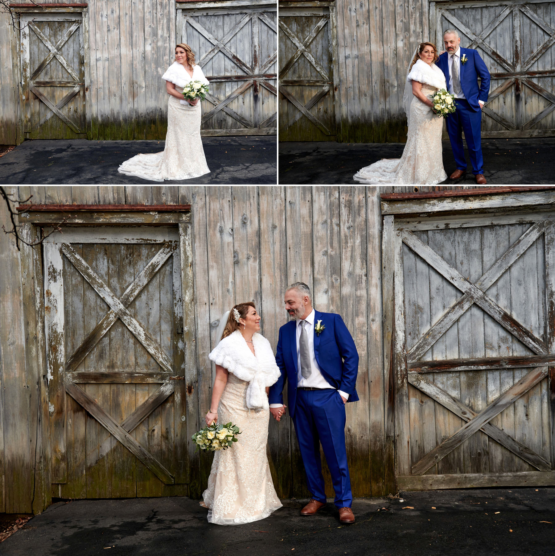 winter wedding photos at the bernards inn