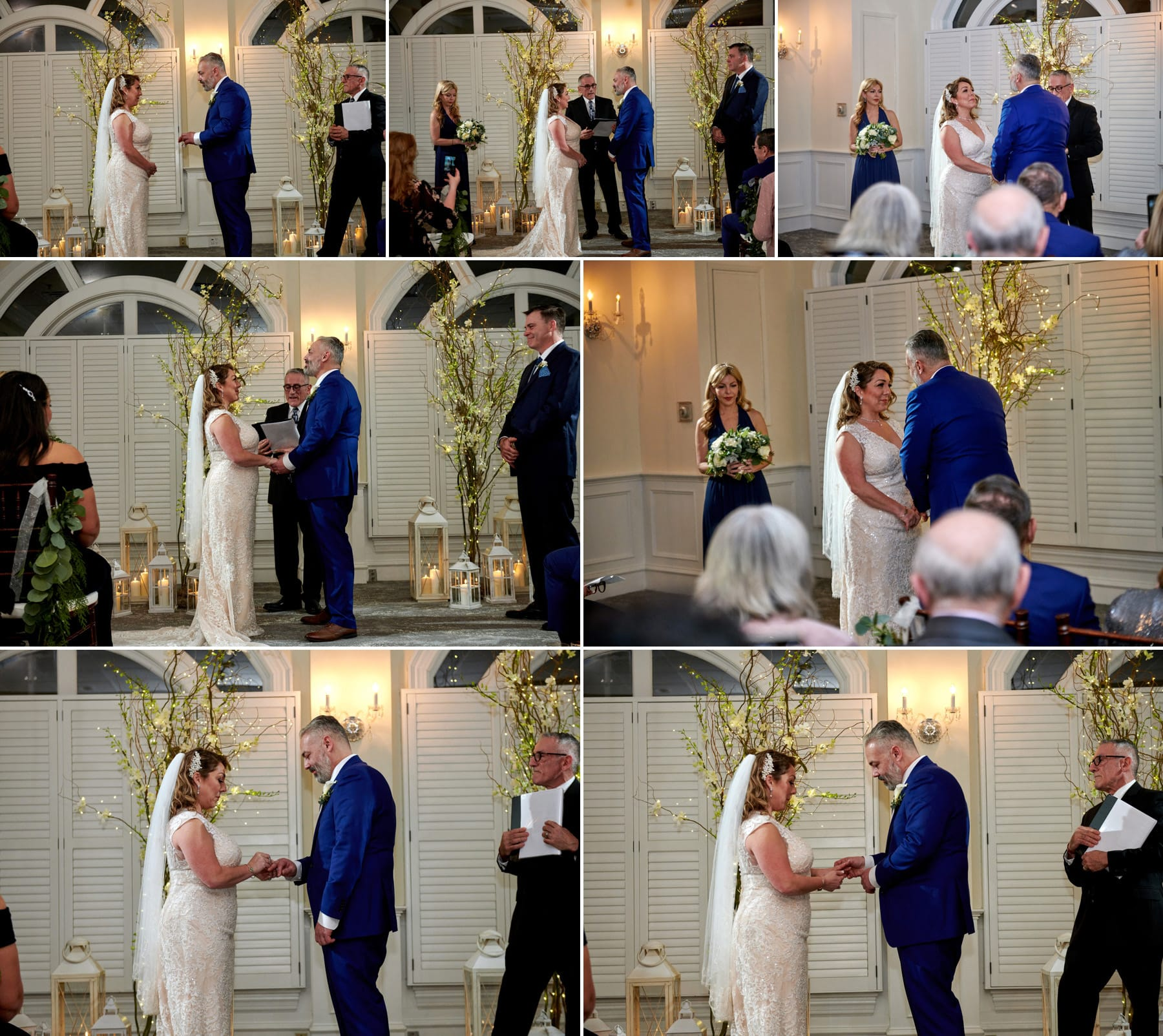 bernards inn indoor wedding ceremony photos