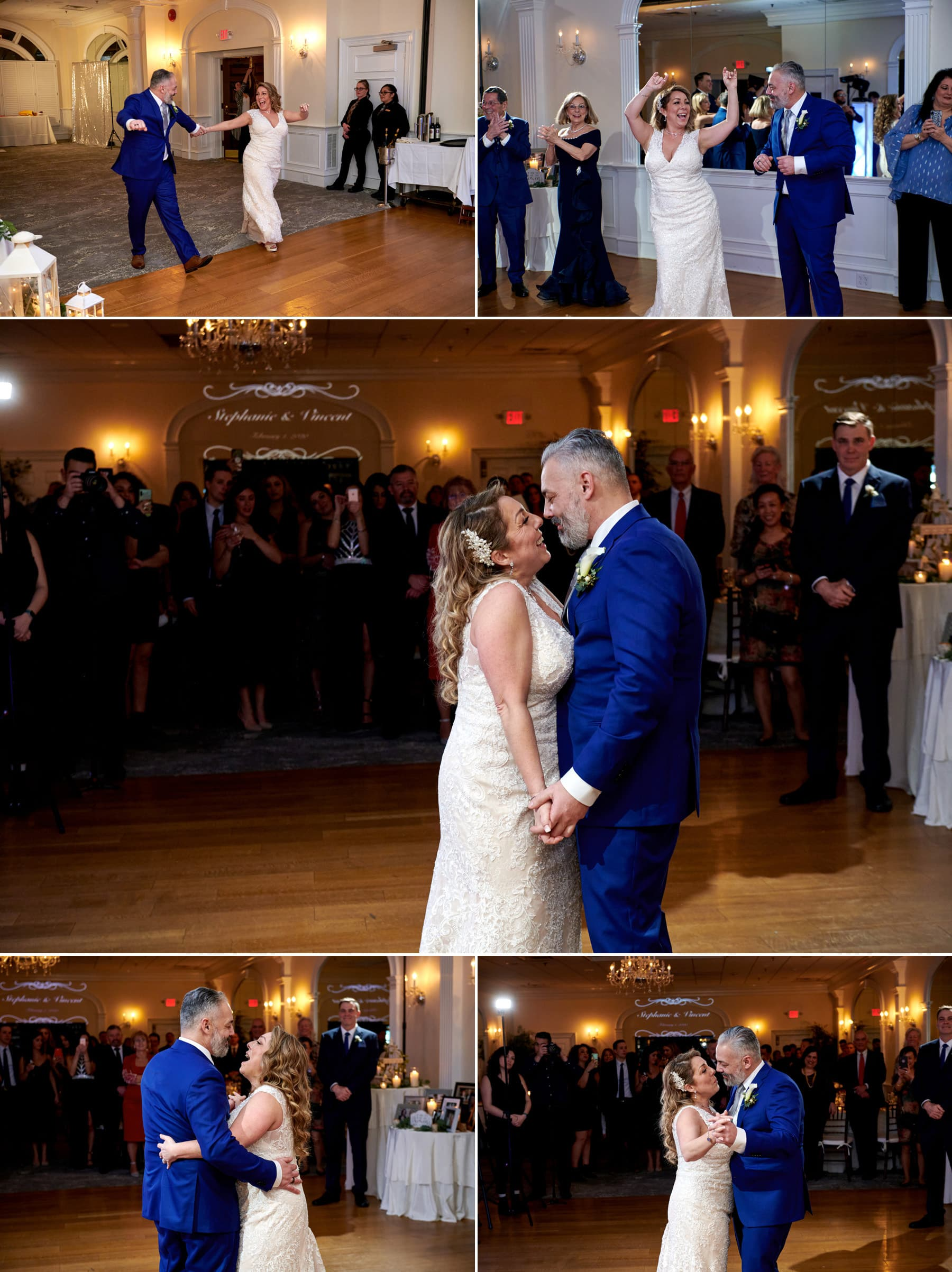 bernards inn wedding first dance photos