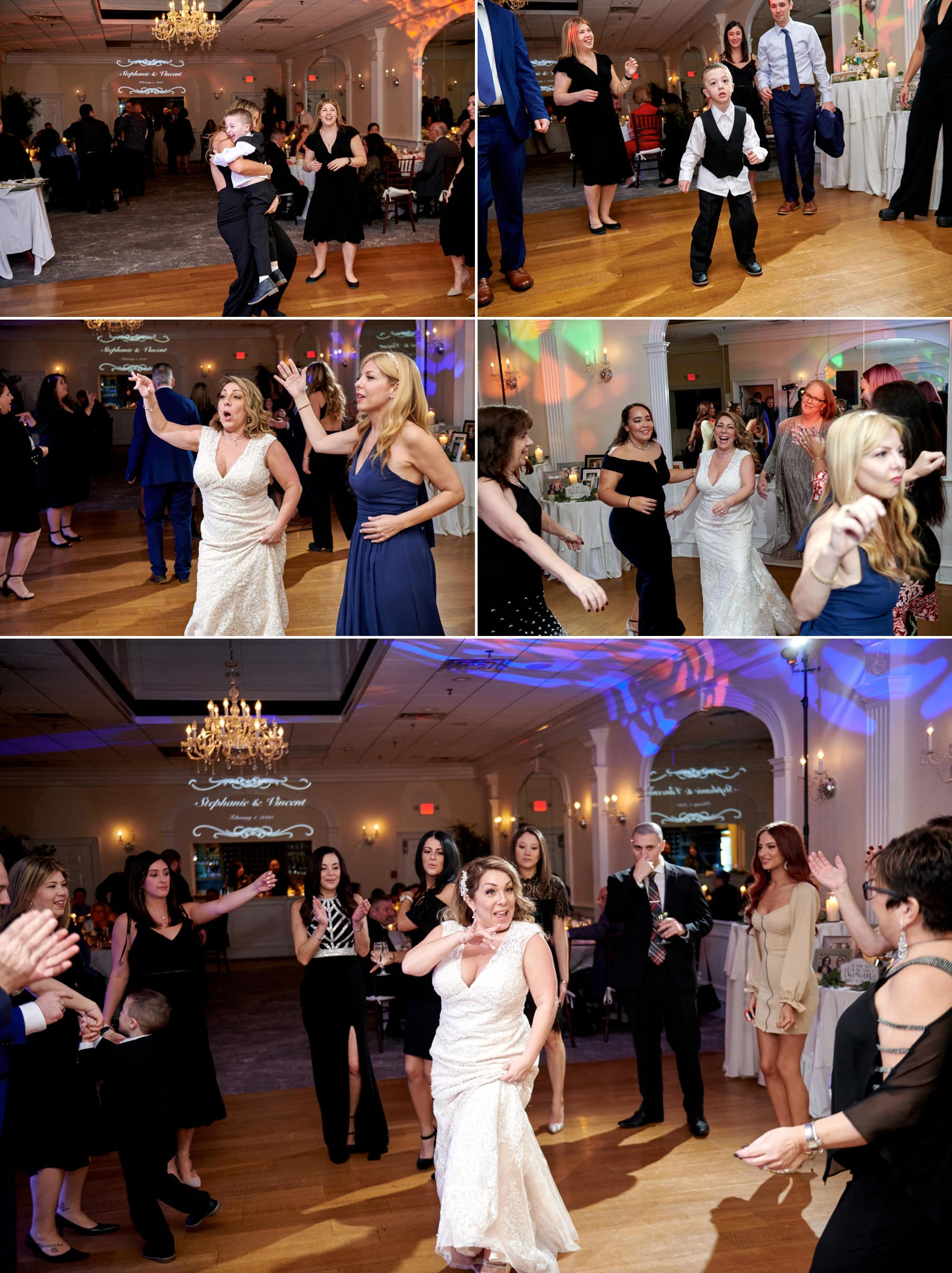 bernards inn wedding partying photos