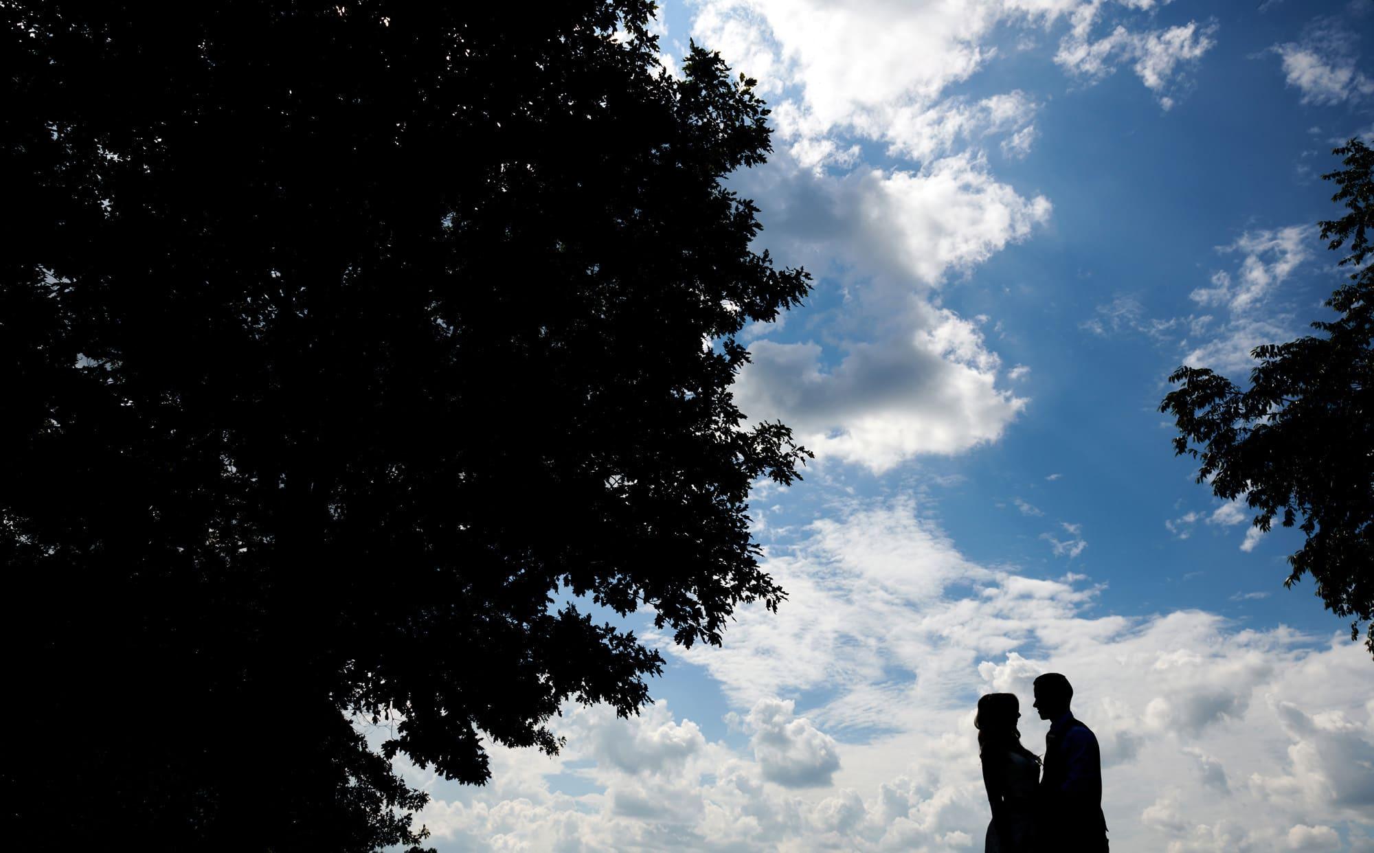 wedding silhouette photo in flemington