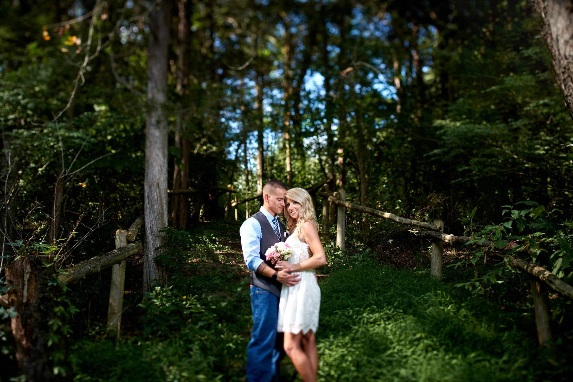 summer elopement wedding photo