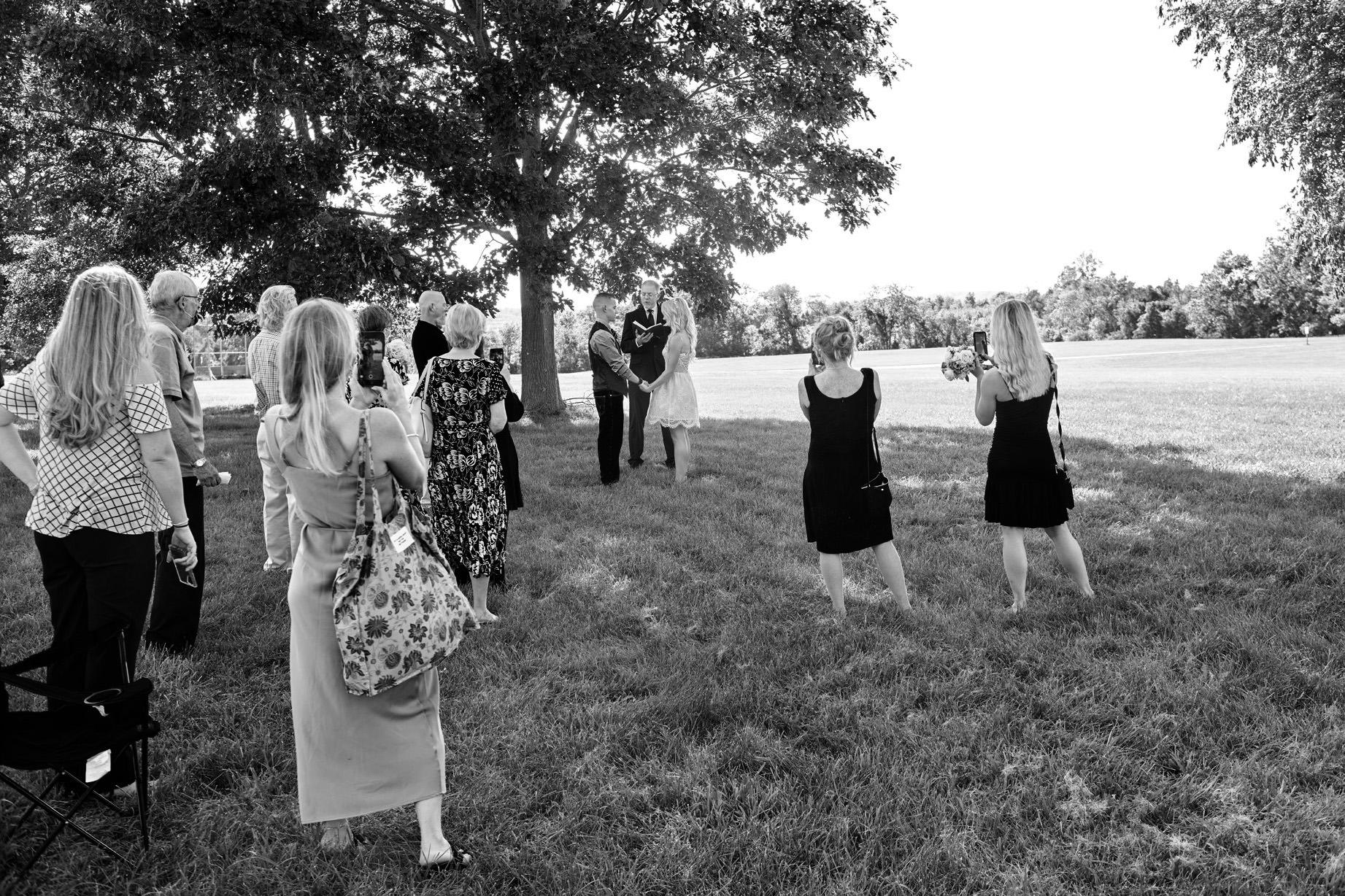 small wedding at deep path park