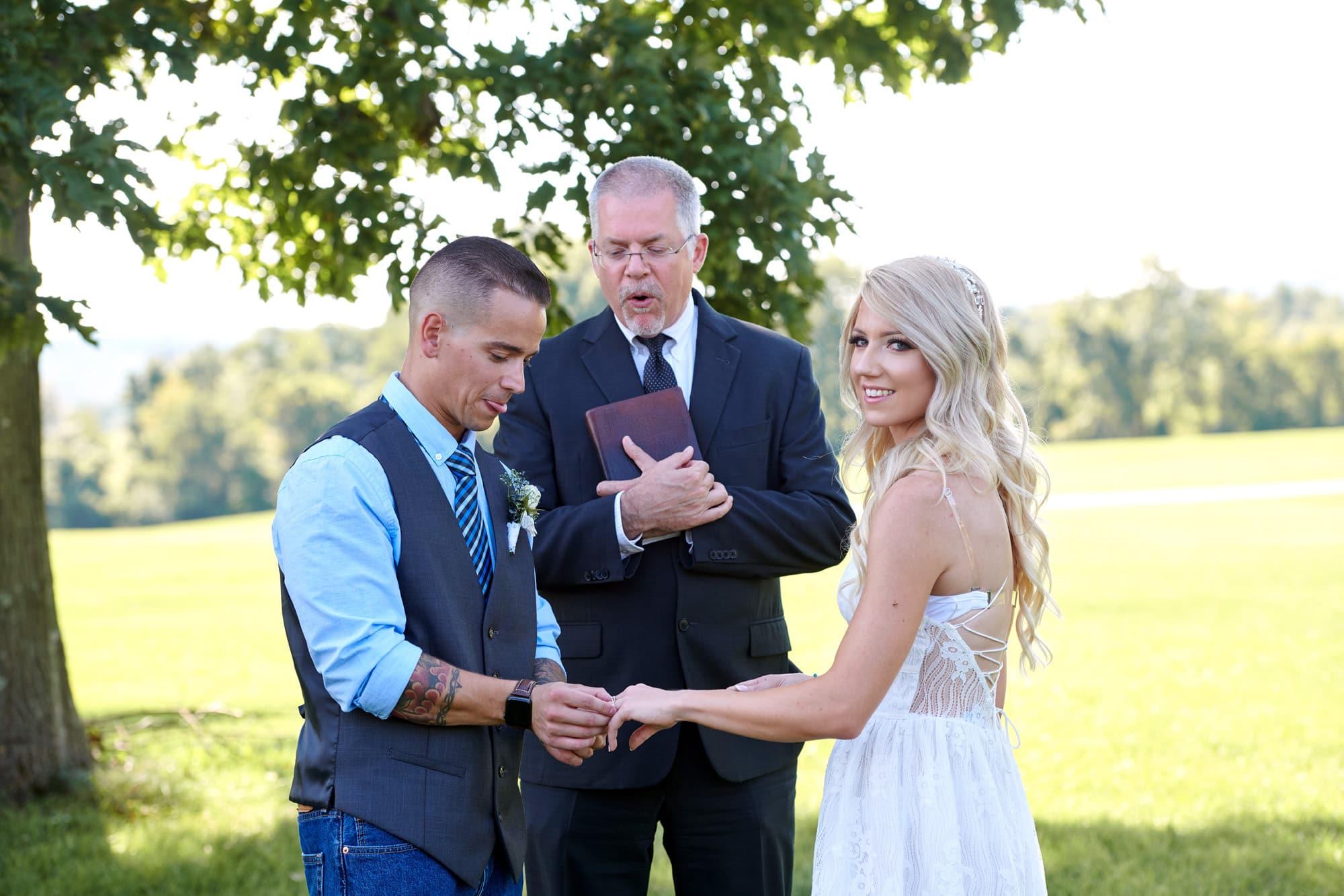 intimate hunterdon county nj wedding