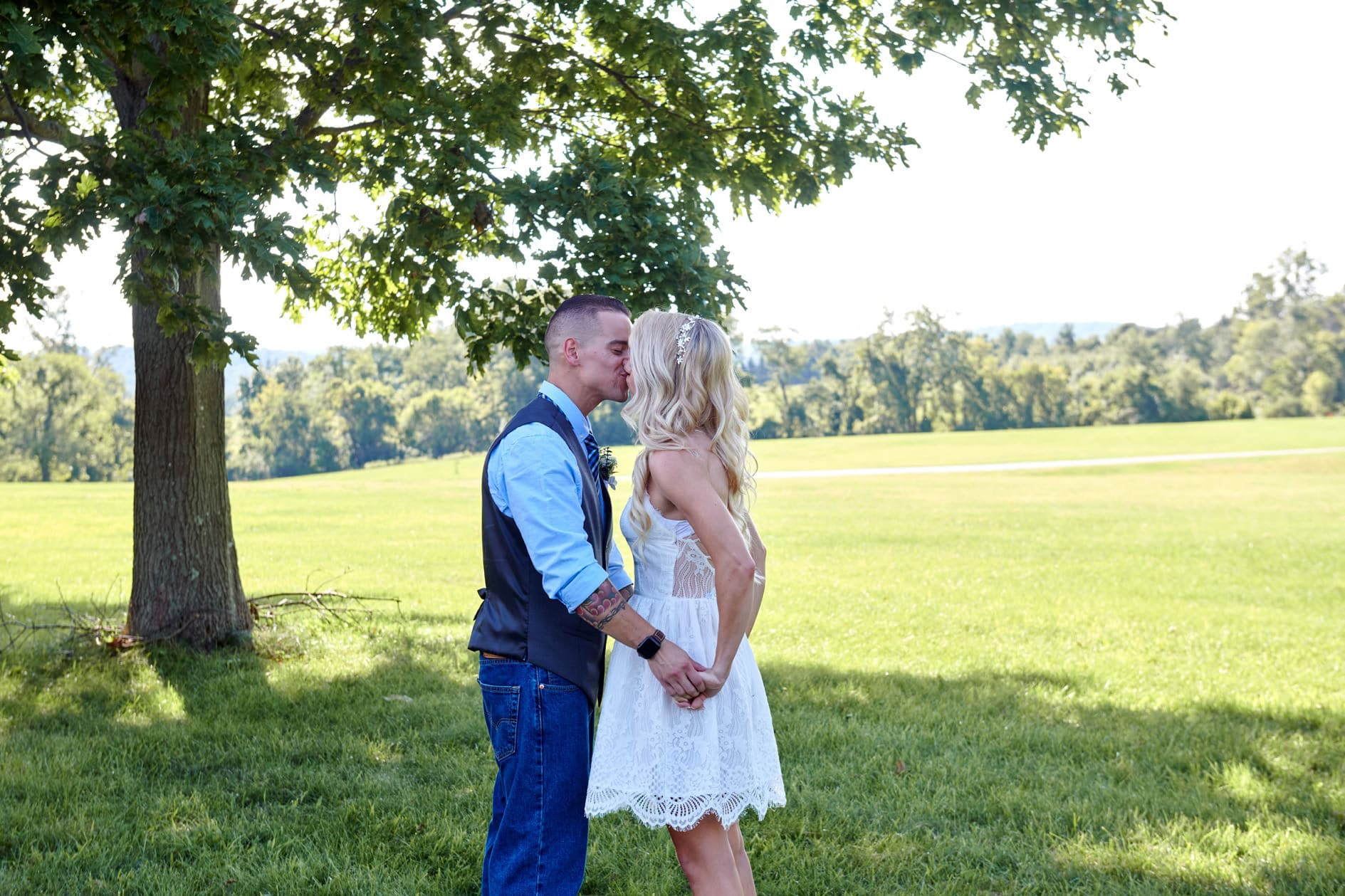 first kiss photo after eloping