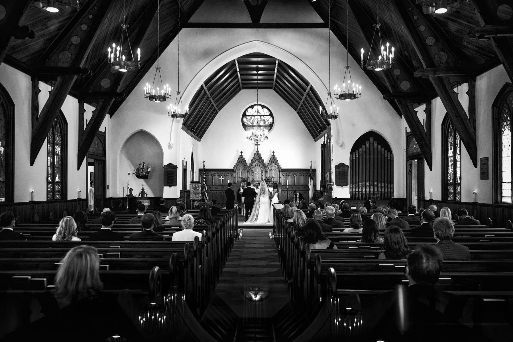 spring lake church wedding photo