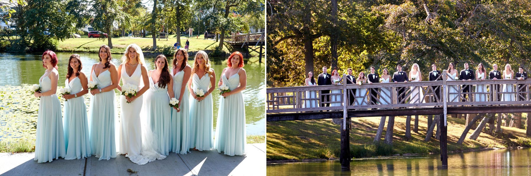 bridal party photos in spring lake