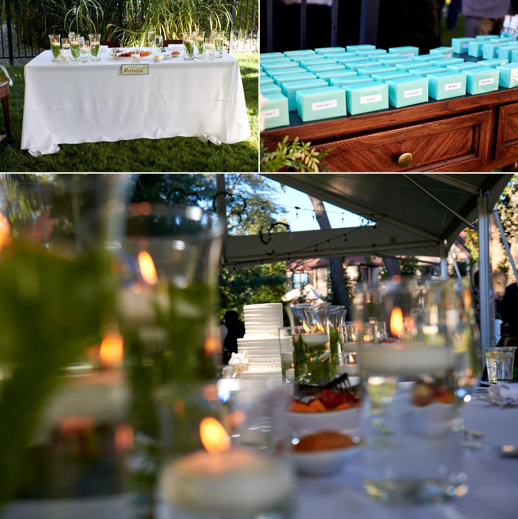 nj backyard wedding detail photos