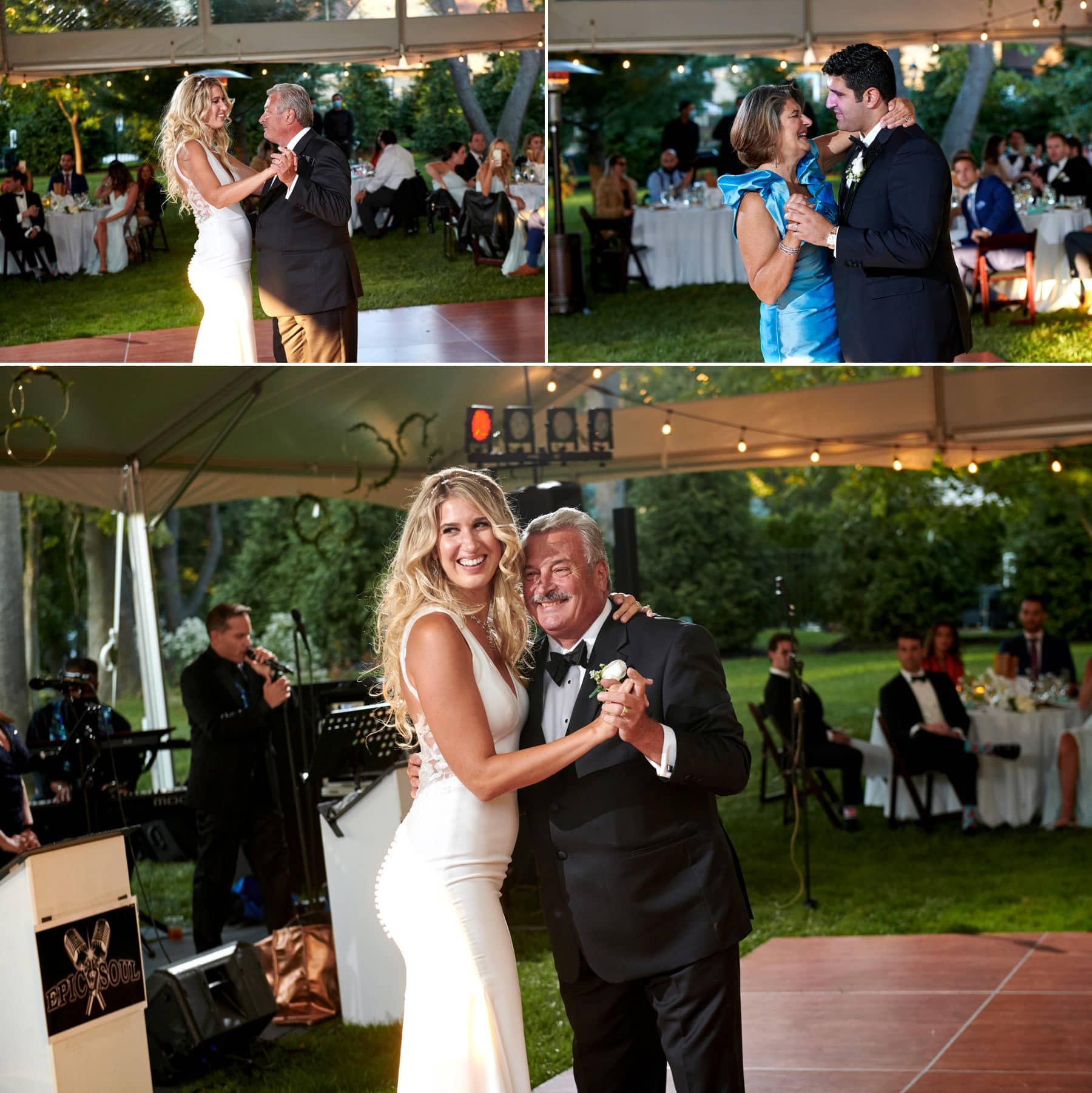parent dance photos at a nj backyard wedding