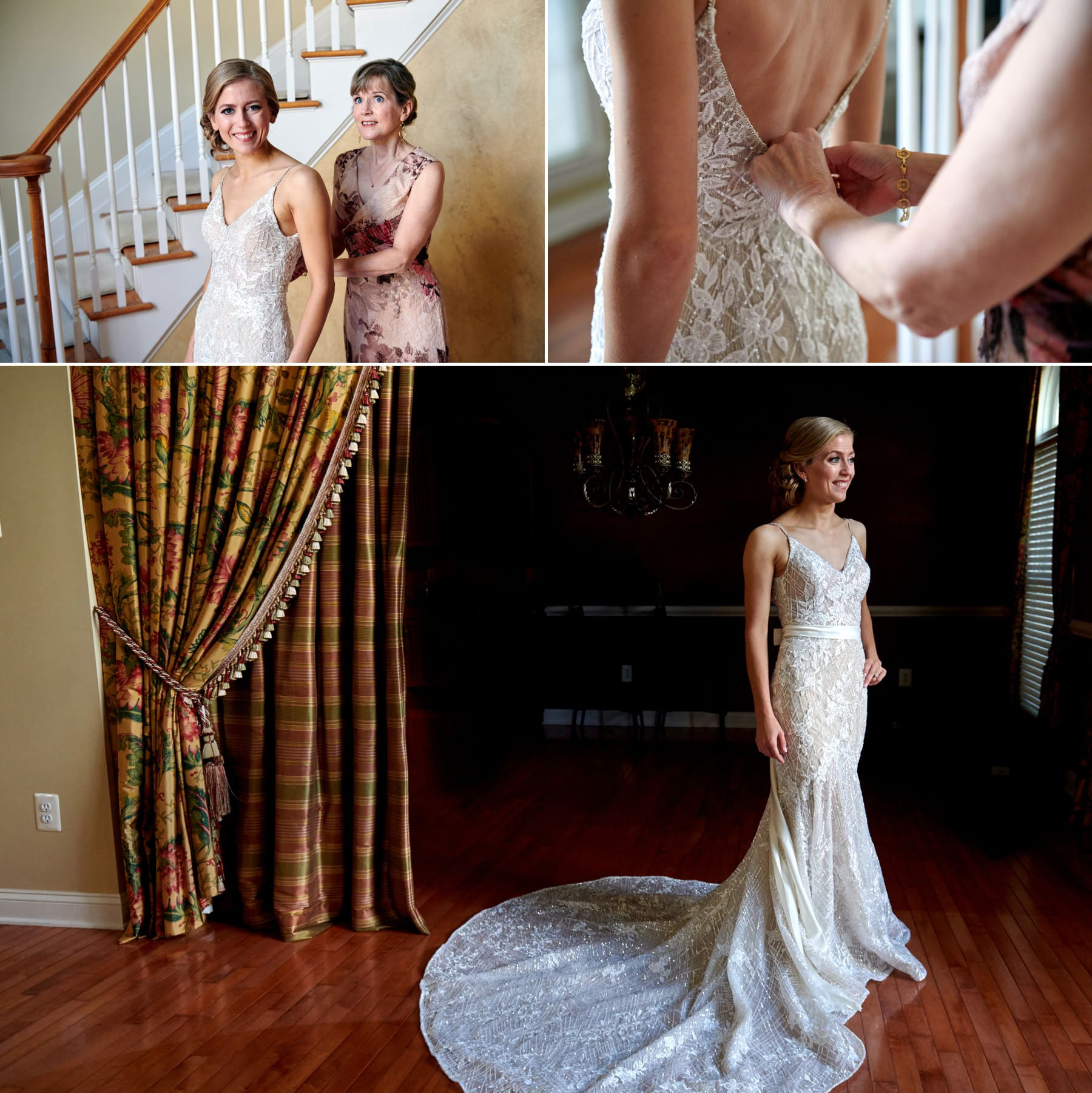 Bride getting ready at home photo