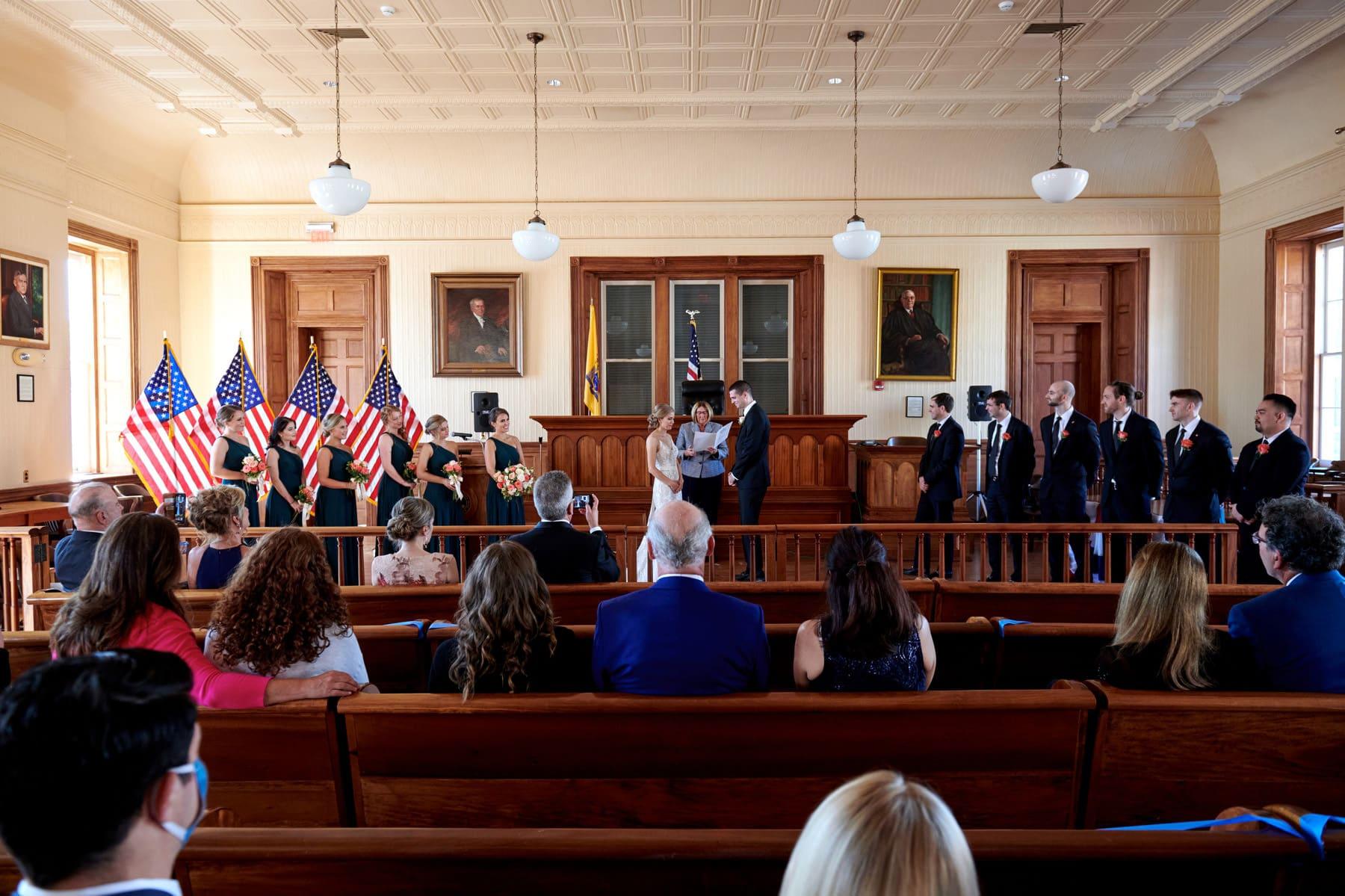 Historic Flemington NJ Courthouse wedding