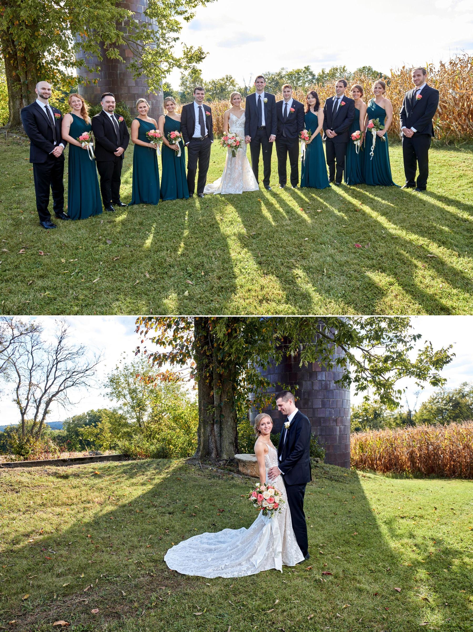 Villa Milagro Vineyards bridal party photo