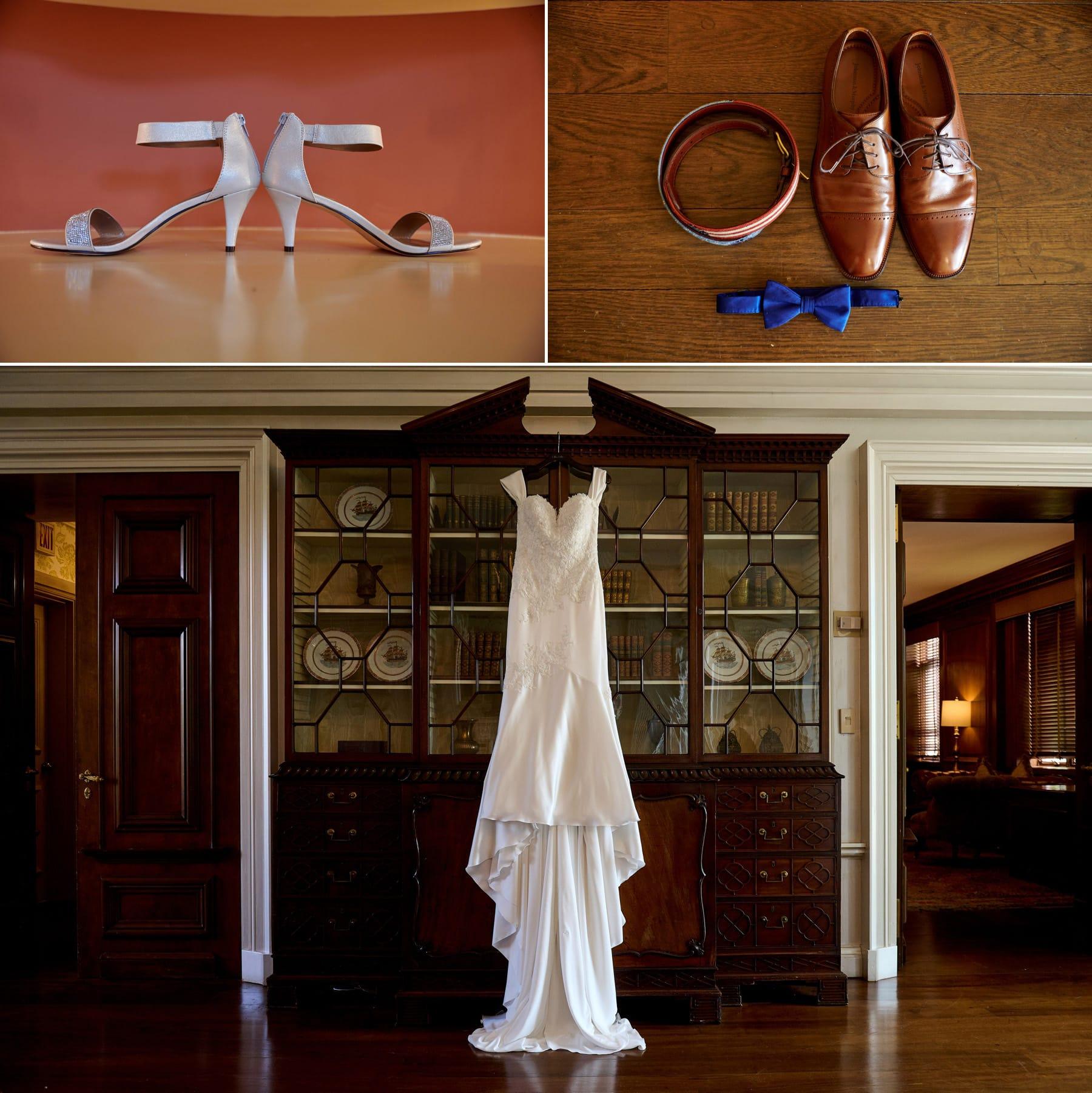 wedding details at Hamilton Farm Golf Club