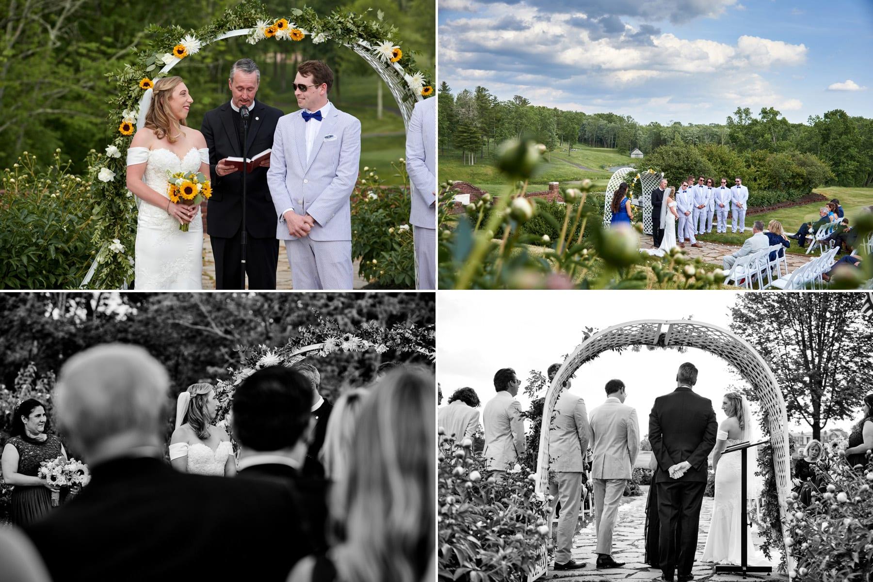 wedding ceremony photos at Hamilton Farm Golf Club