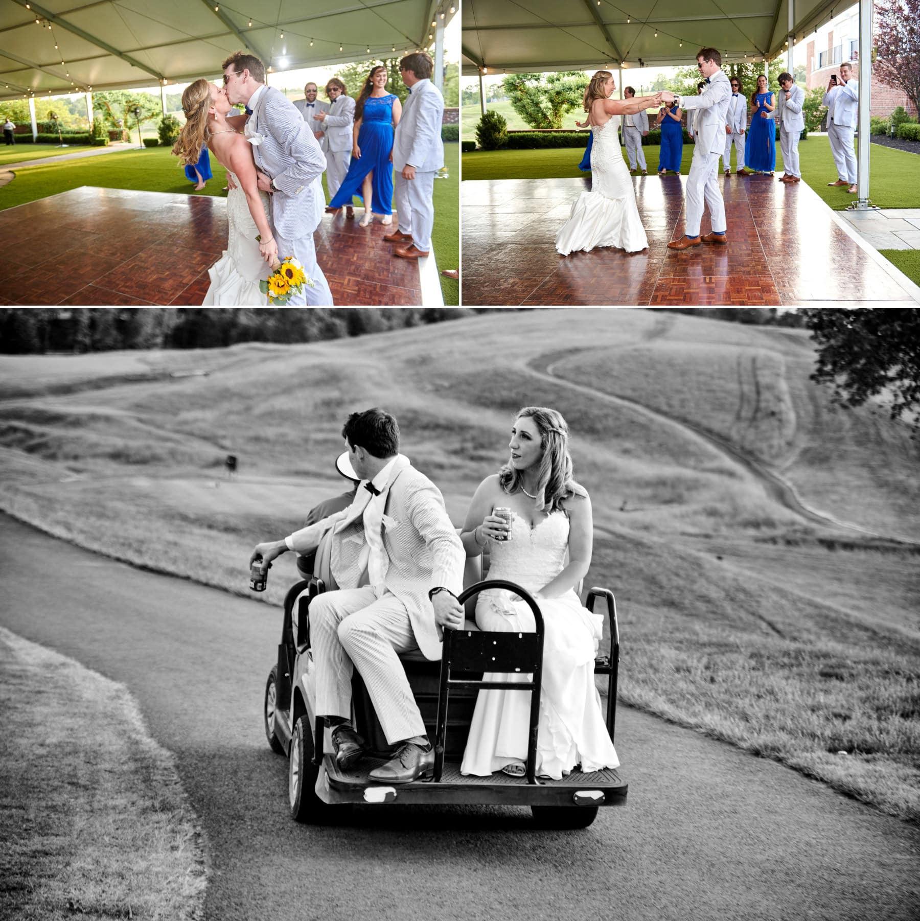 wedding first dance at Hamilton Farm Golf Club