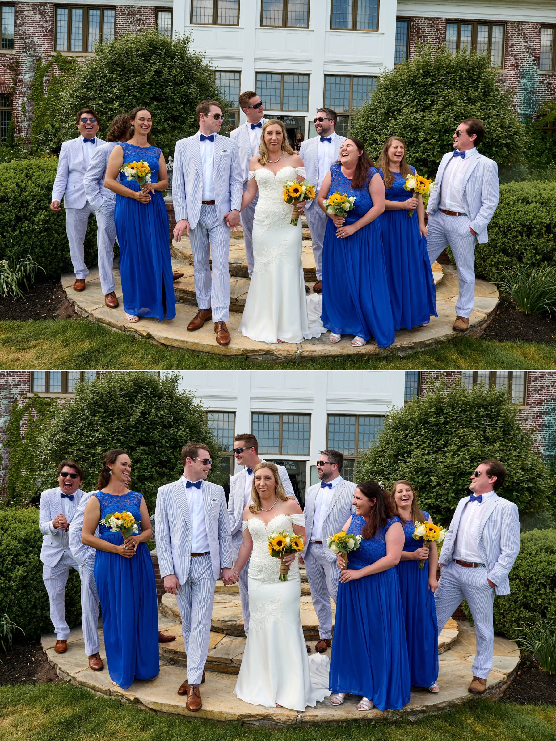 bridal party photos at Hamilton Farm Golf Club