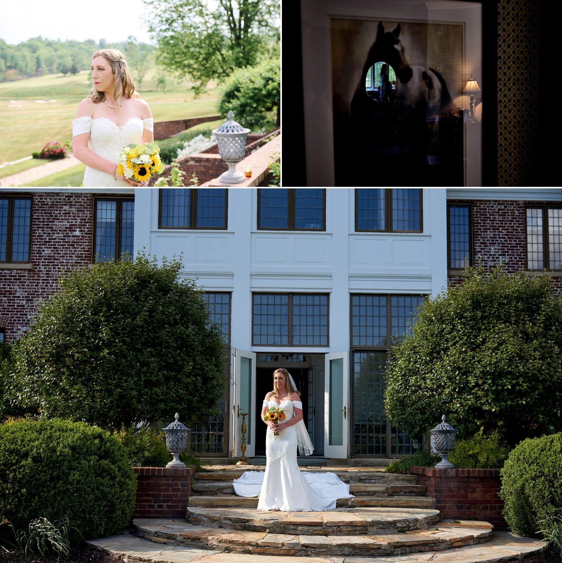 bride photos at Hamilton Farm Golf Club