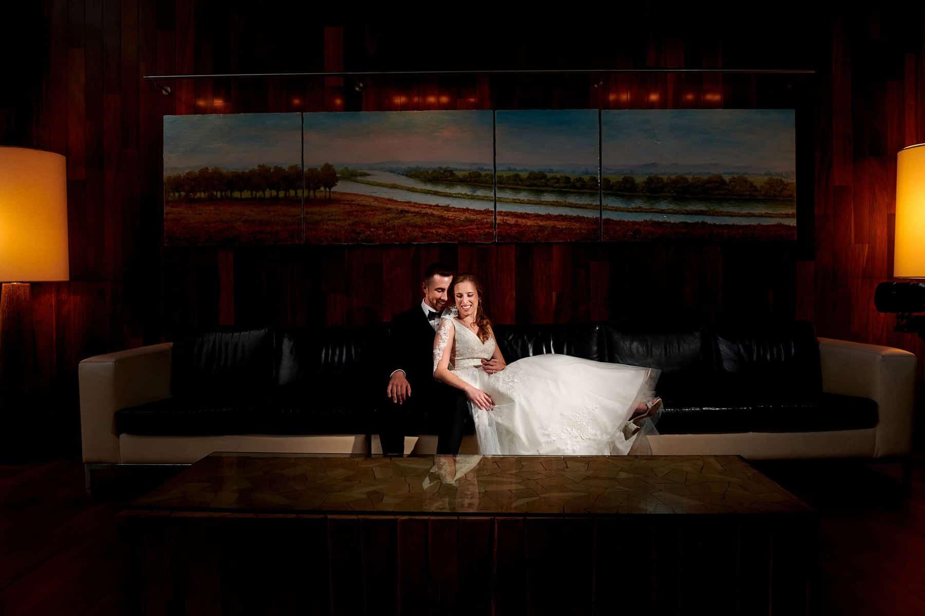 wedding photo at hyatt new brunswick