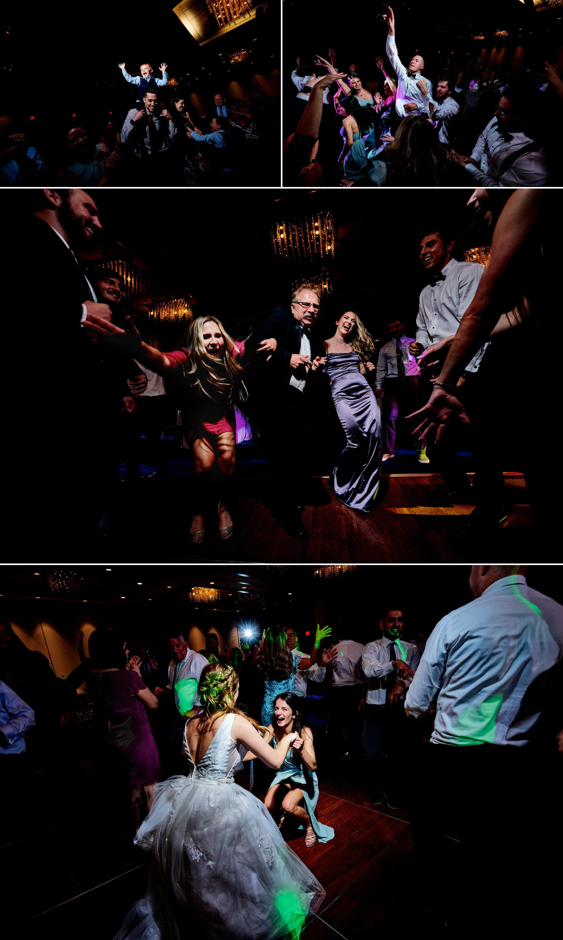 packed wedding dance floor at hyatt new brunswick