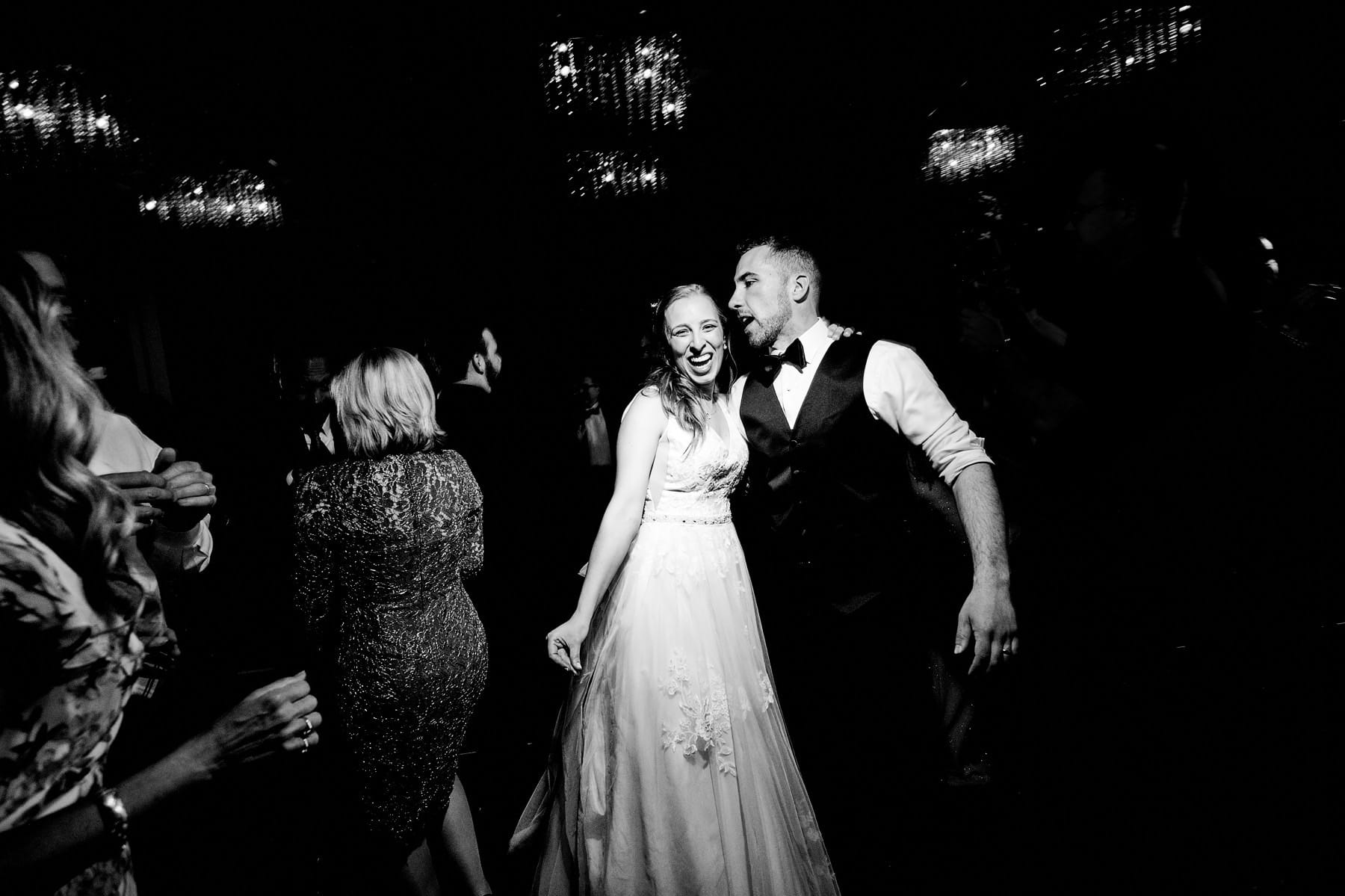 bride and groom at their hyatt new brunswick wedding
