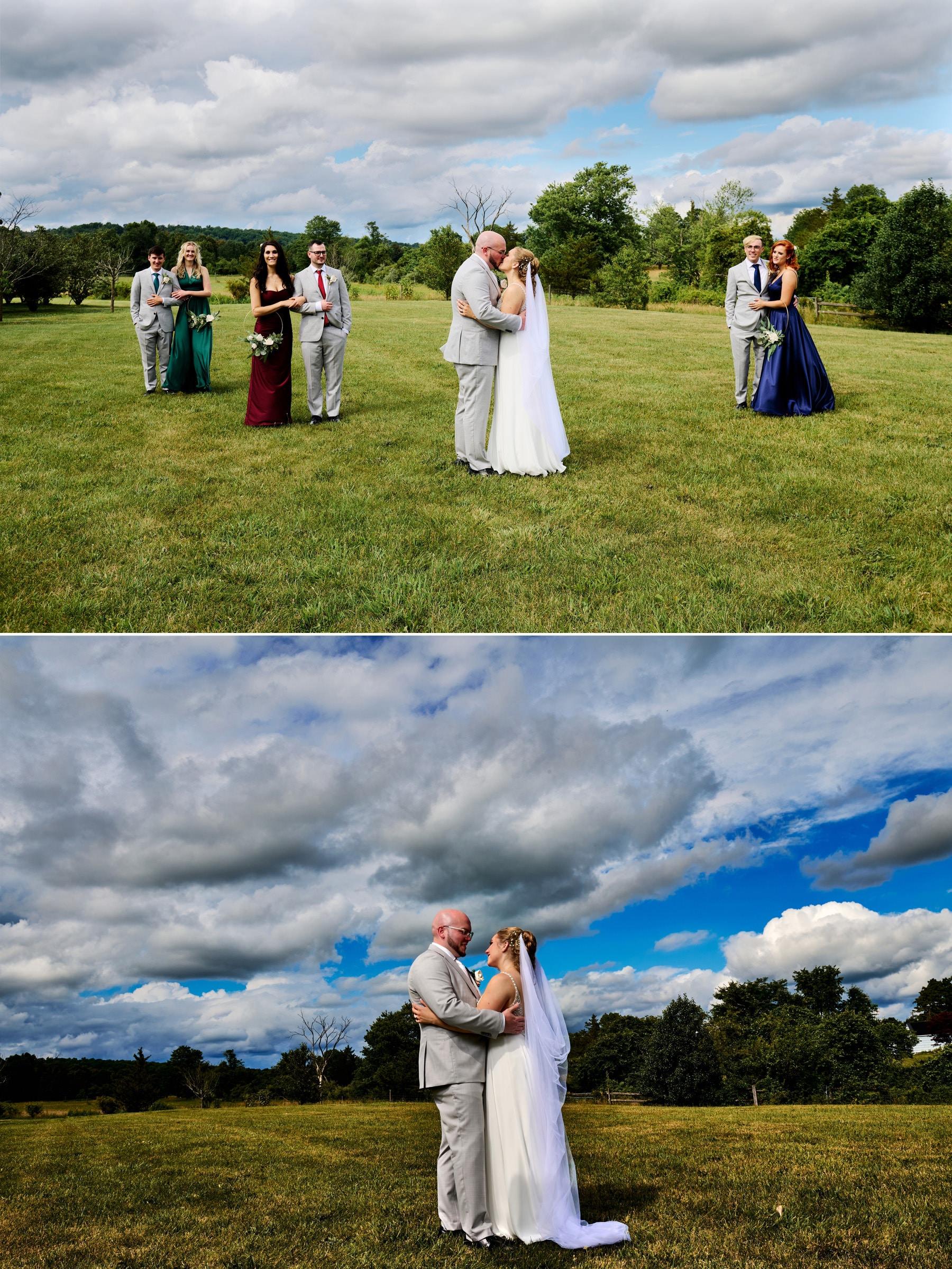 wedding photos at Brick Farm Tavern