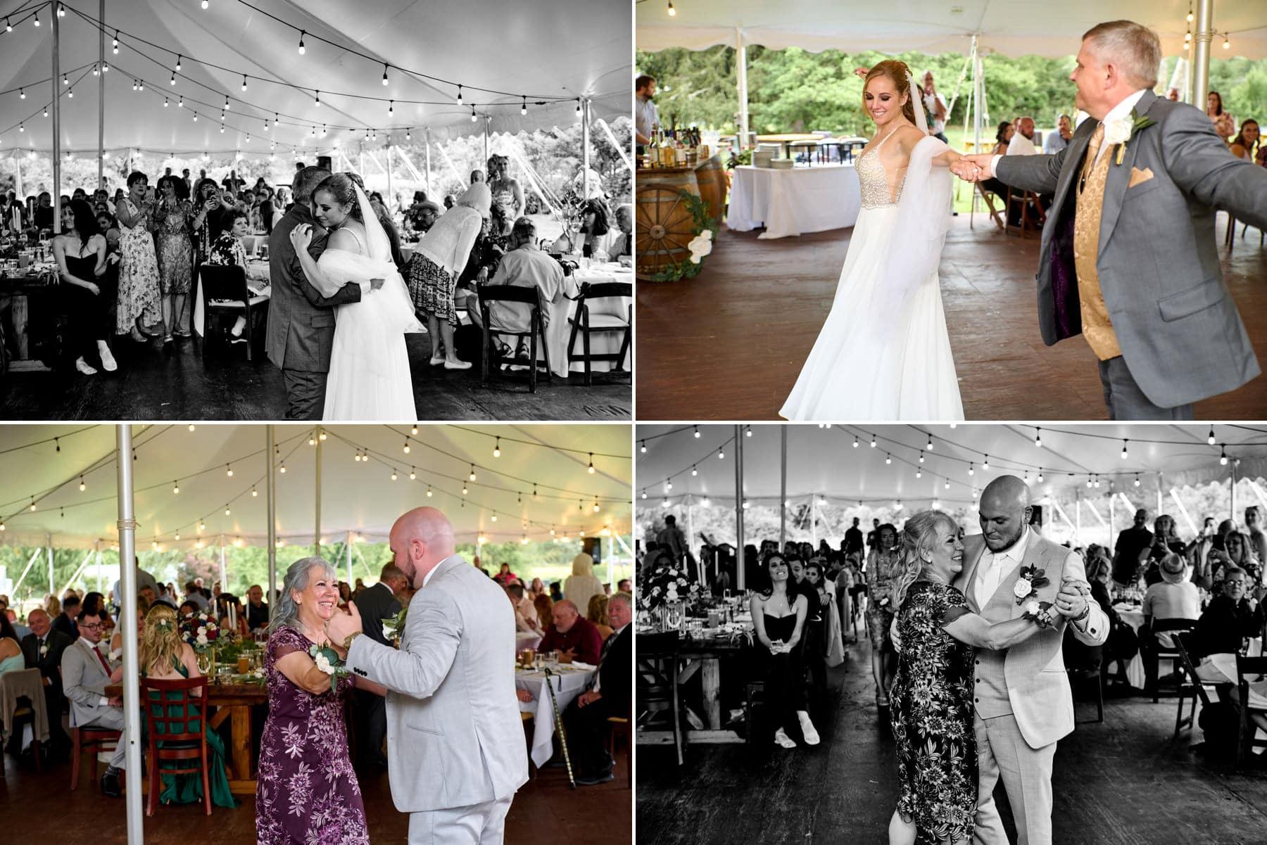 Brick Farm Tavern wedding parent dance photos