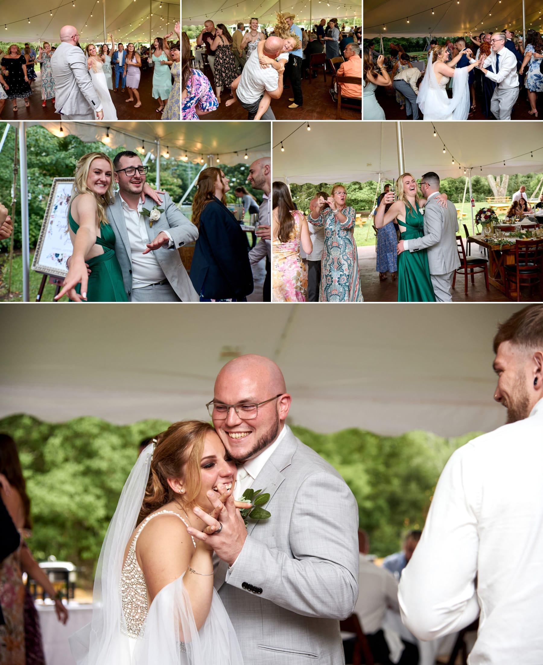 Brick Farm Tavern wedding reception photos