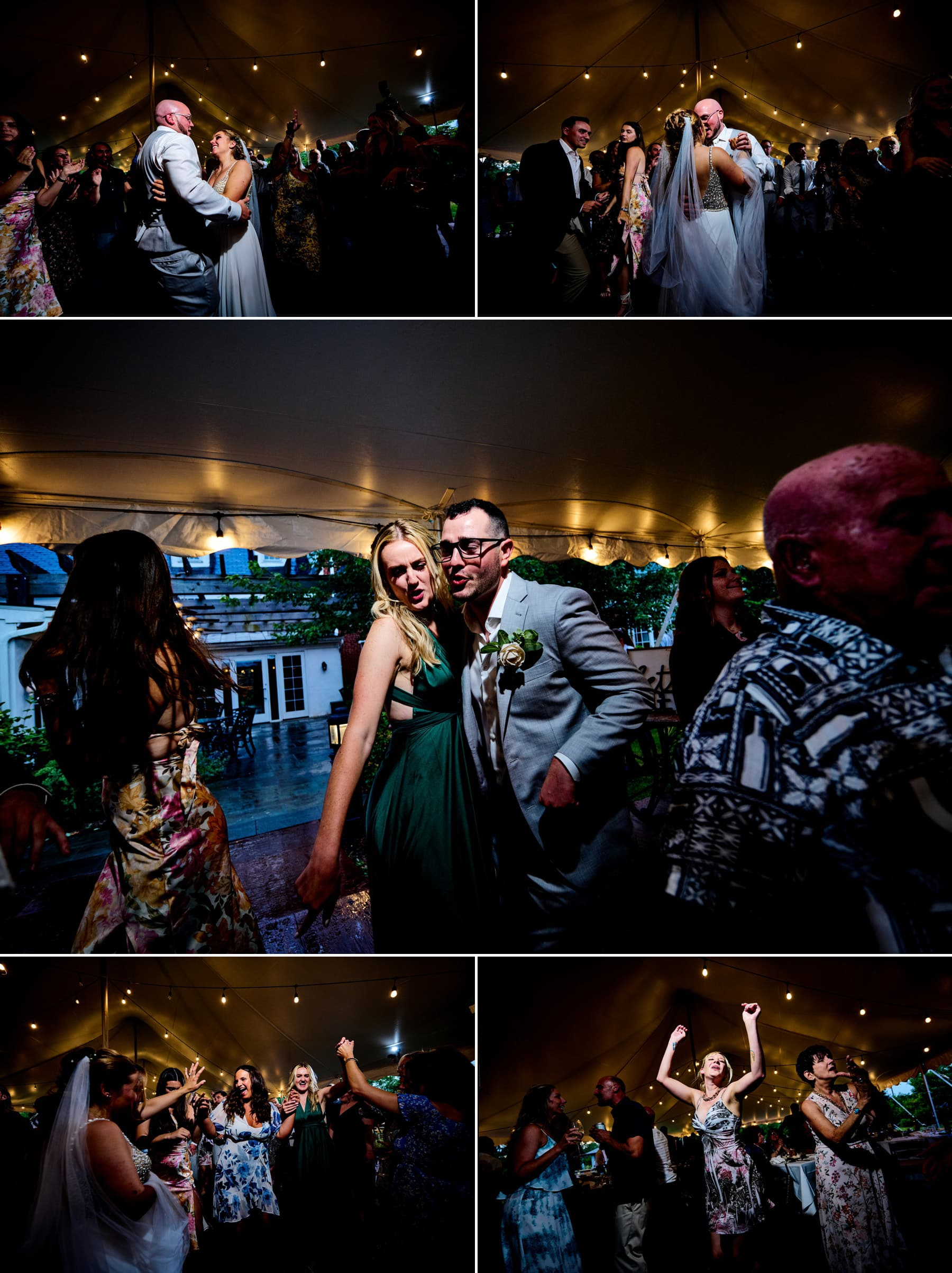 wedding dance floor photos at Brick Farm Tavern