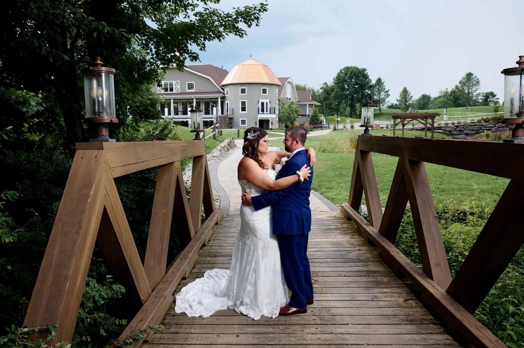 bear brook valley wedding photo