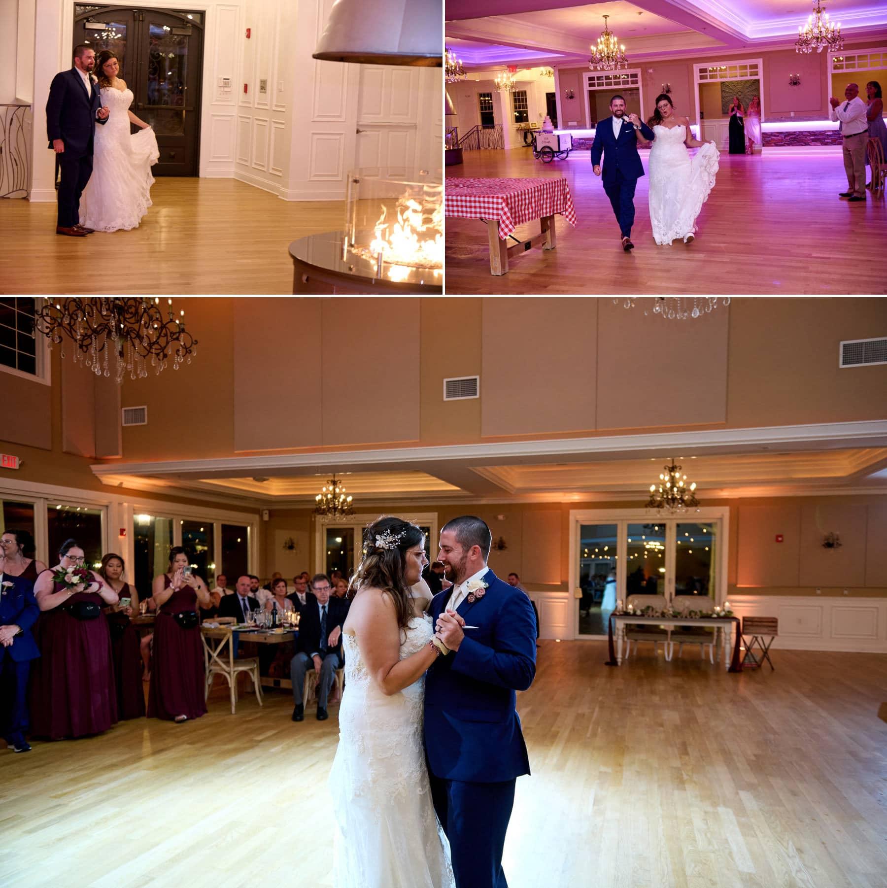 bear brook valley wedding first dance photos