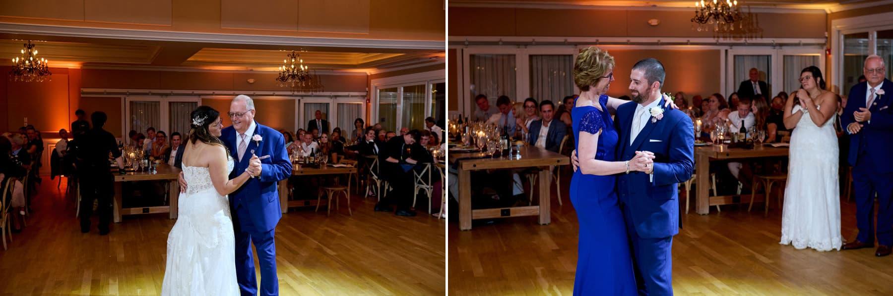wedding parent dance photos at bear brook valley