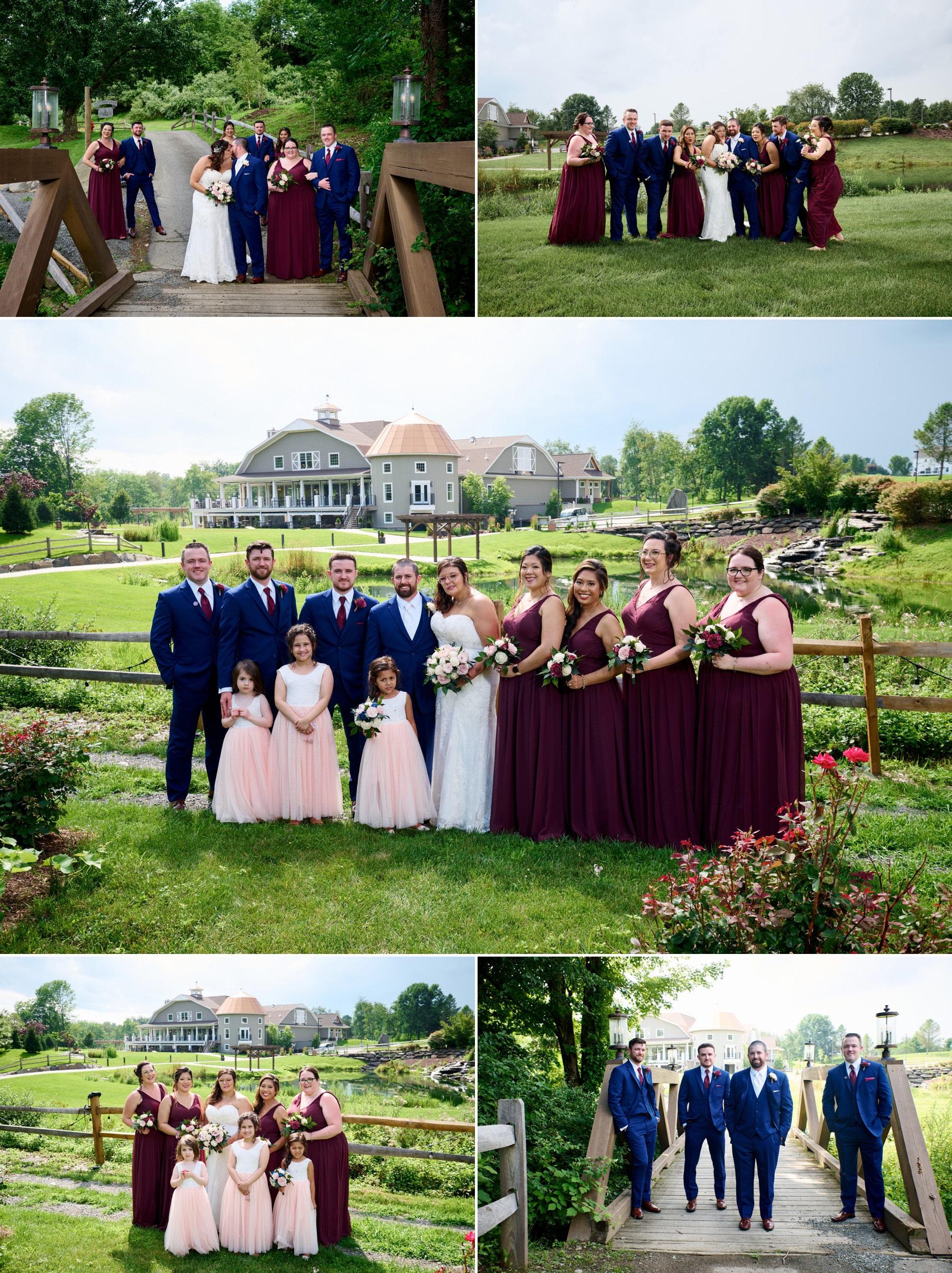 bridal party photos at bear brook valley