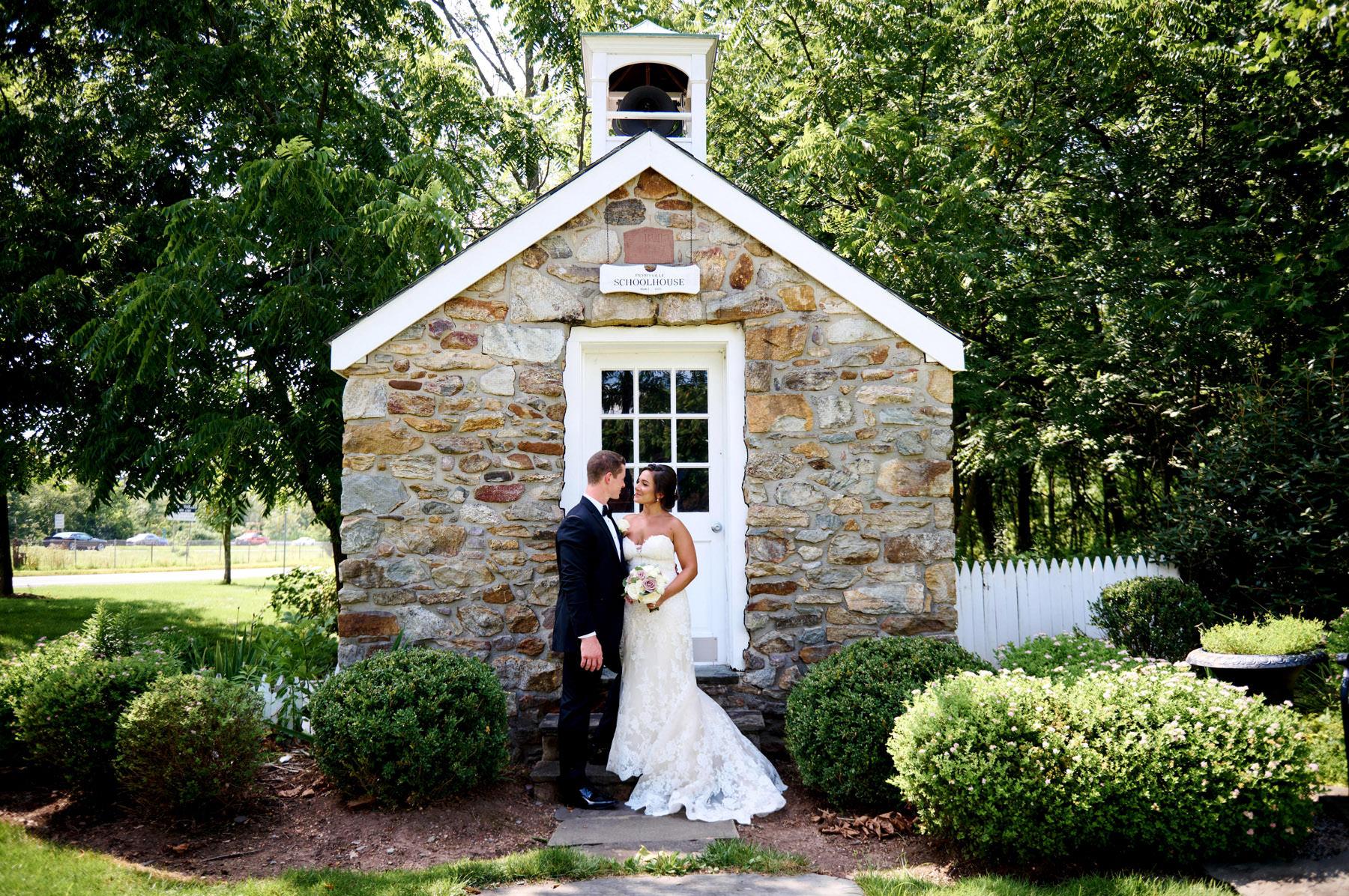 The school house at The Farmhouse wedding photo